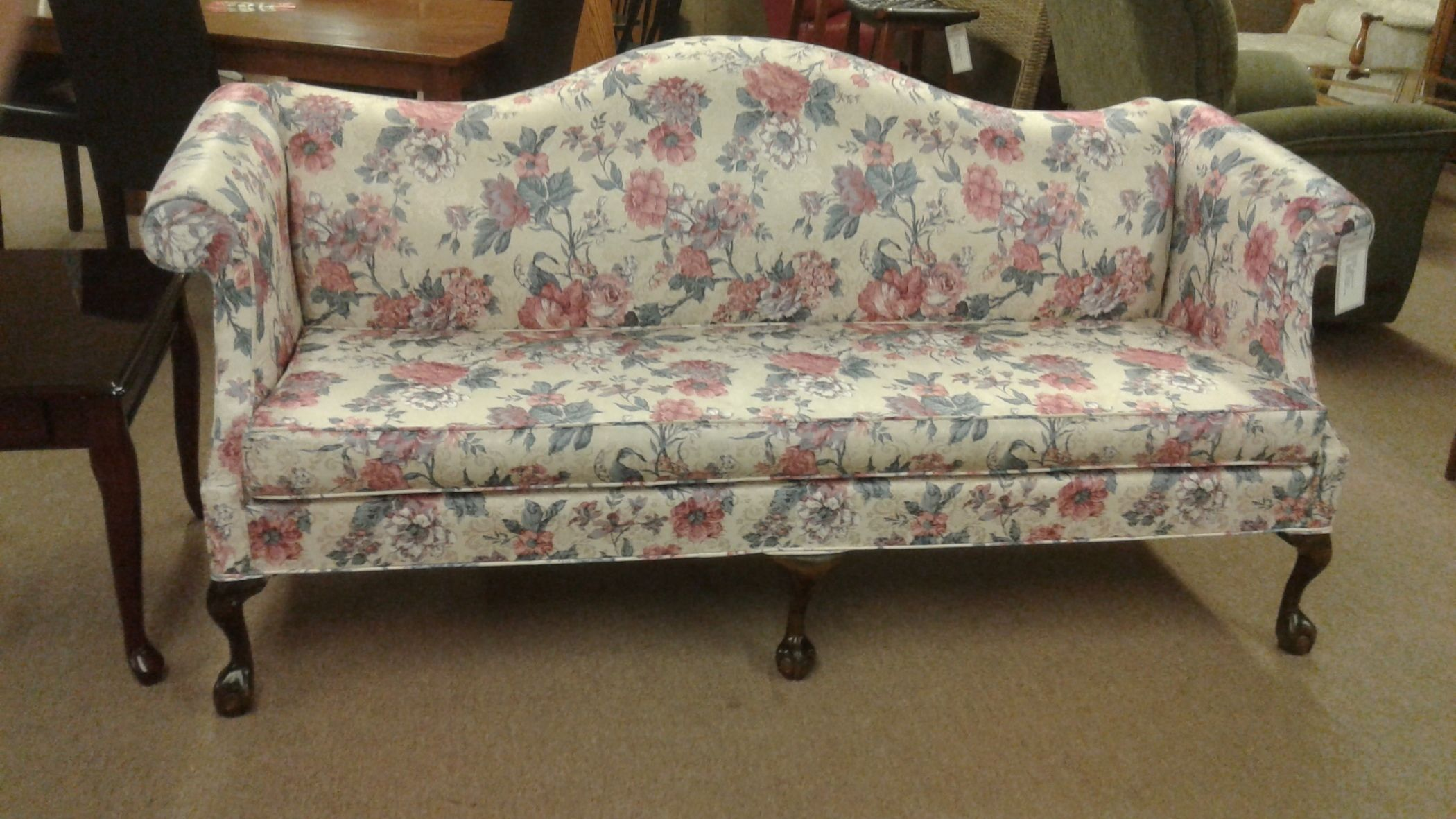 Queen Anne Camelback Sofa Delmarva Furniture Consignment