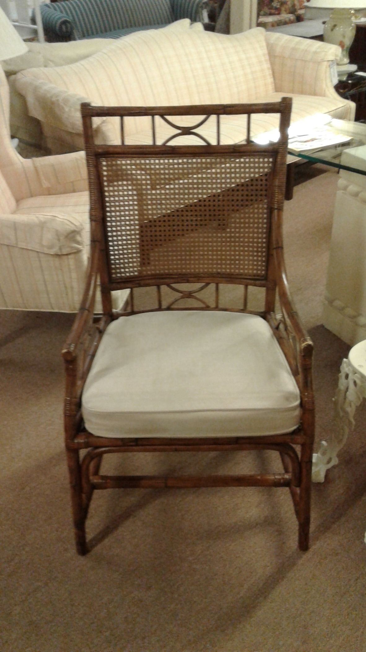 Broyhill Cane Amp Rattan Chair Delmarva Furniture Consignment