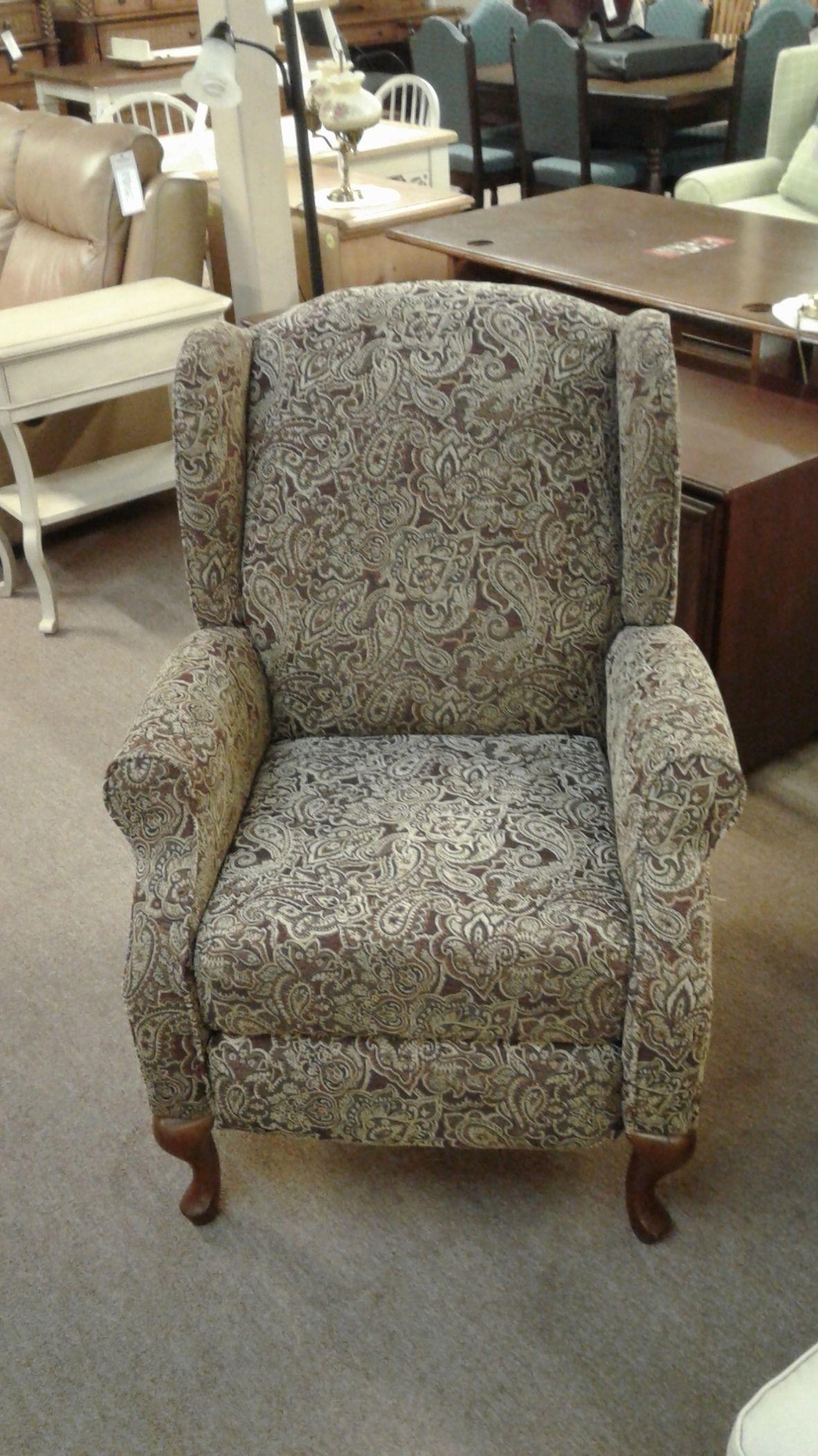Ashley Paisley Print Recliner Delmarva Furniture Consignment