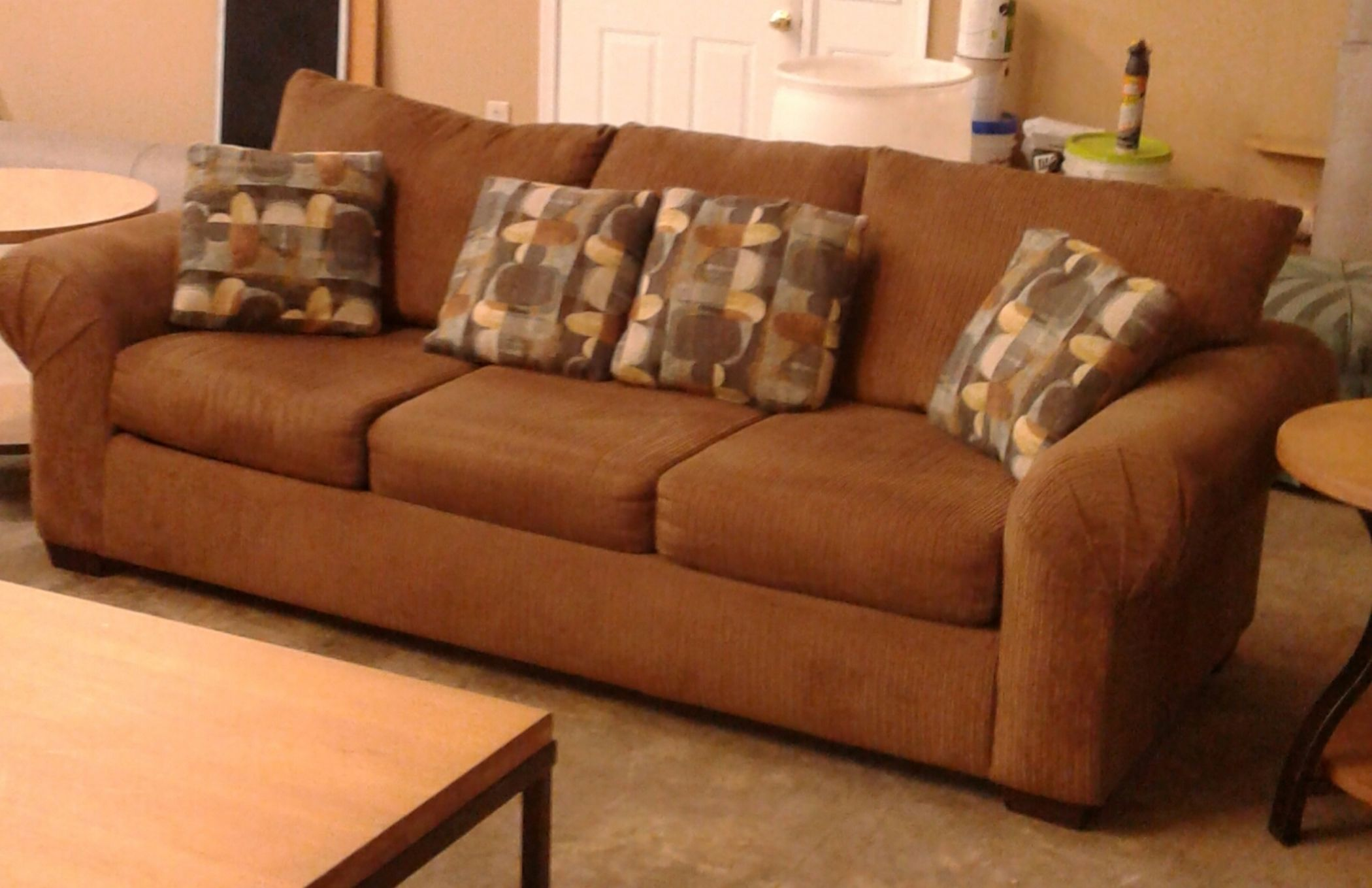 Brown corduroy sofa delmarva furniture consignment for Brown corduroy couch