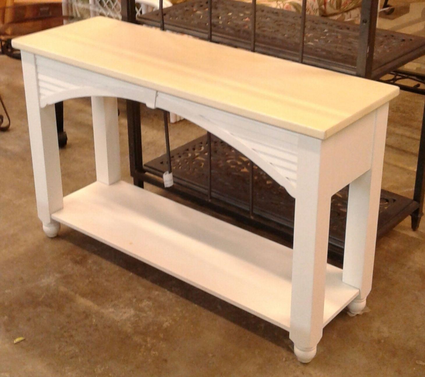 Broyhill White Sofa Table Delmarva Furniture Consignment