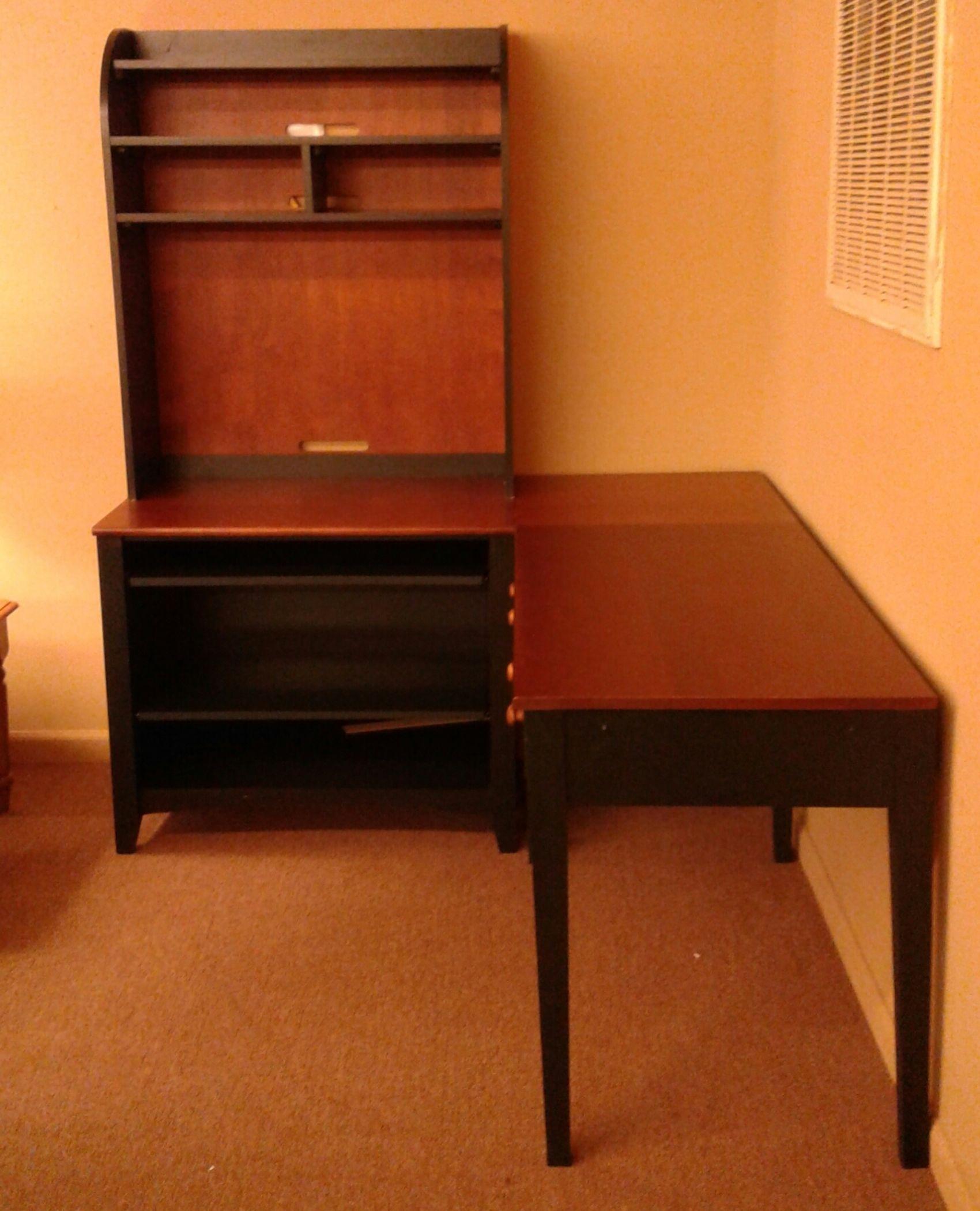 Riverside L Desk W Credenza Delmarva Furniture Consignment