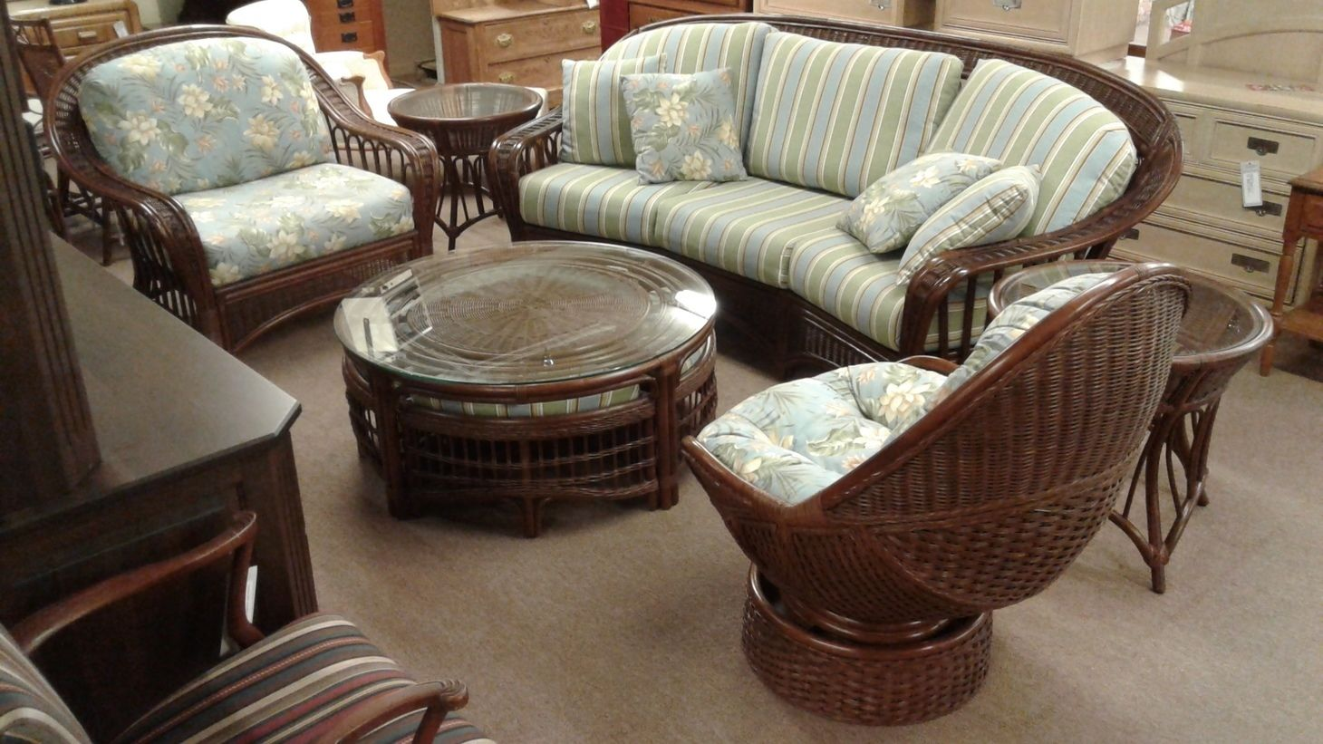 Braxton Culler Rattan Set Delmarva Furniture Consignment