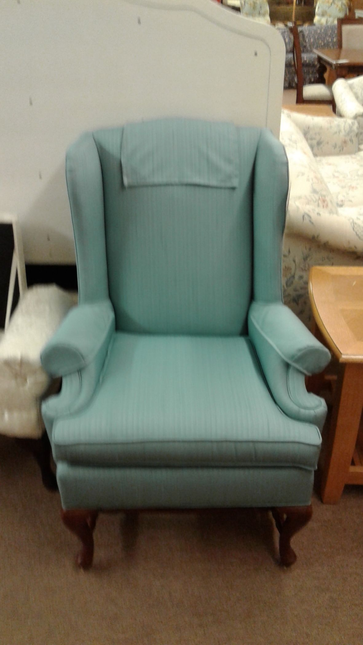 Wing Back Chair Turquoise Delmarva Furniture Consignment