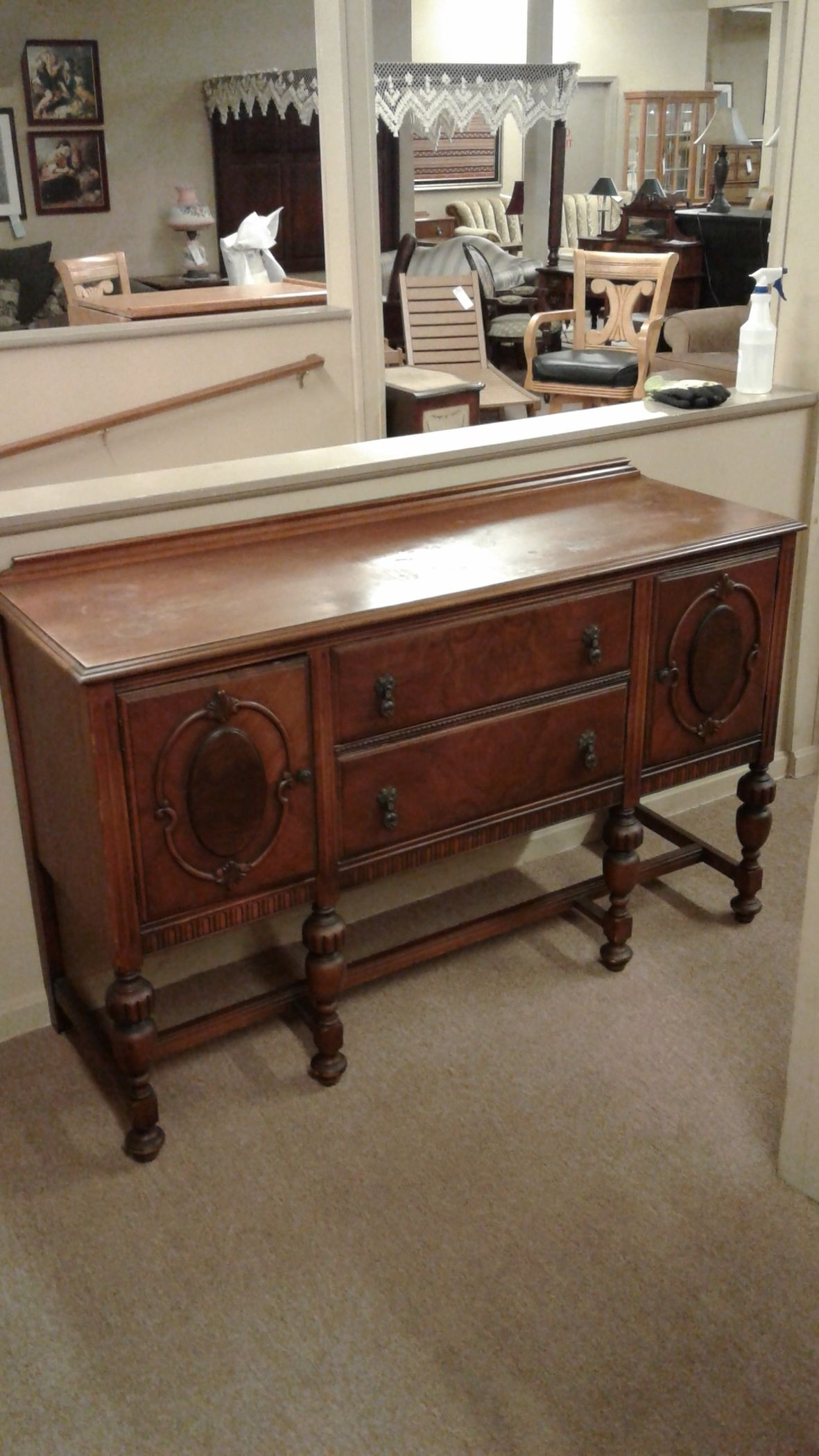 1920 S Antique Buffet Delmarva Furniture Consignment