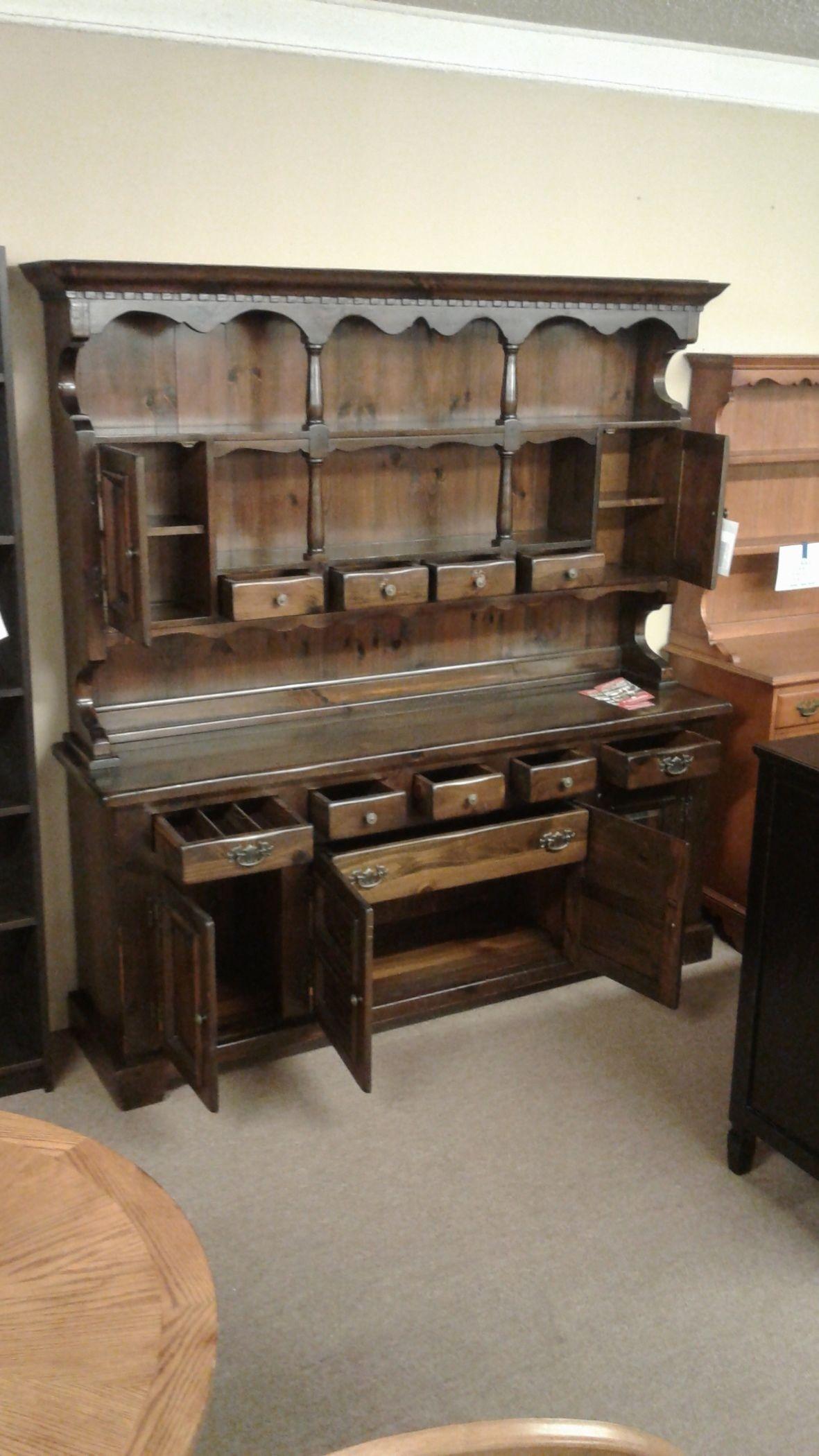 Bennington Two Piece Hutch Delmarva Furniture Consignment