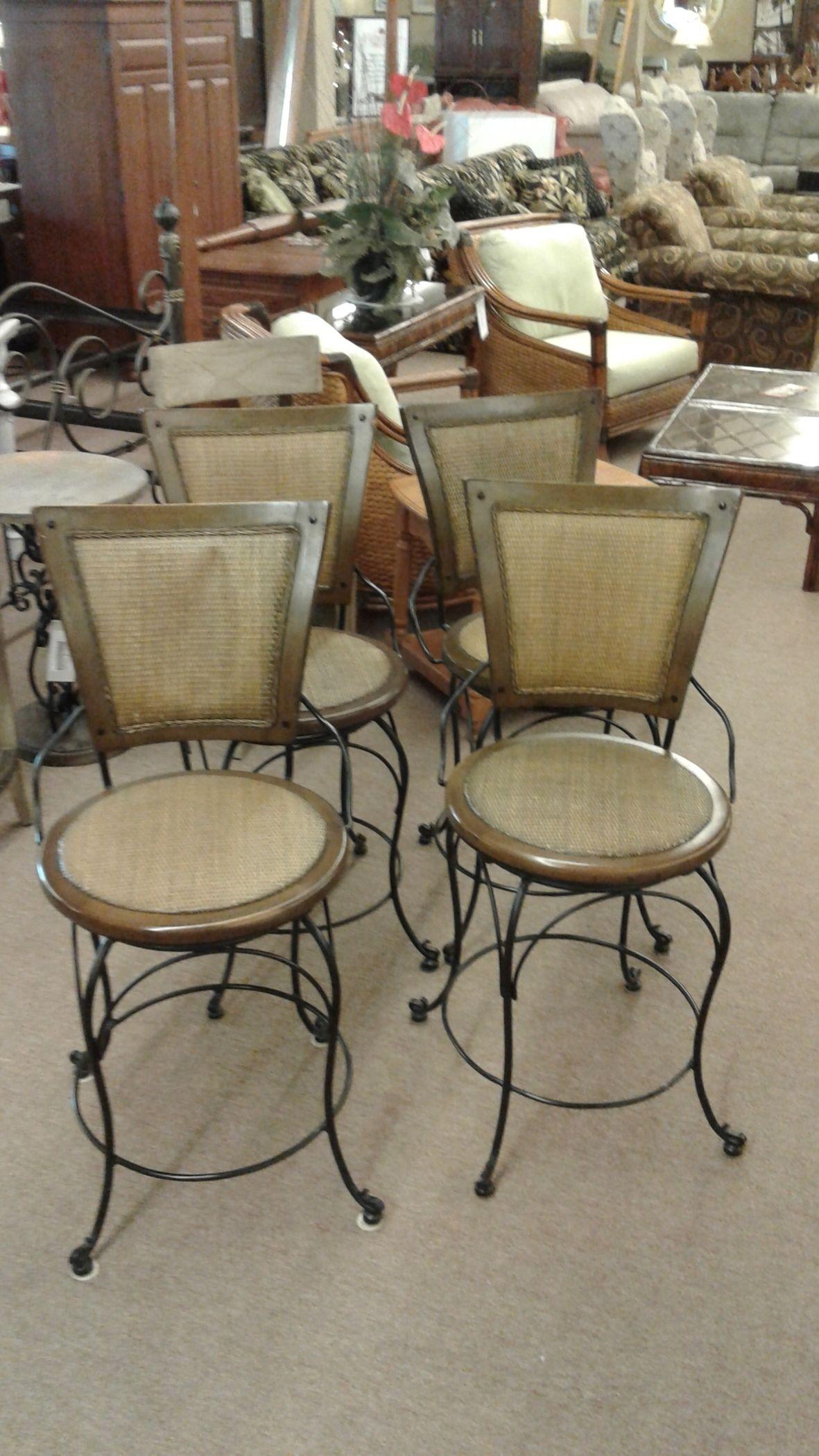 4 Barstools W Backs Delmarva Furniture Consignment