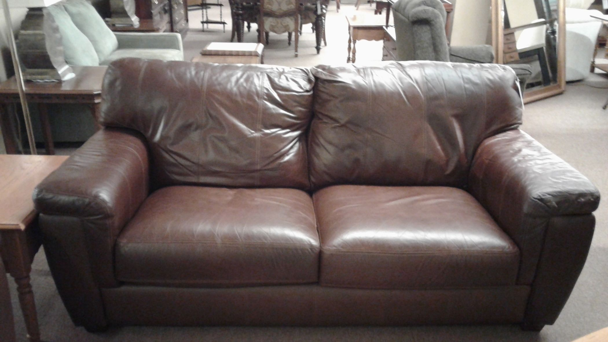 LANE LEATHER SOFA | Delmarva Furniture Consignment