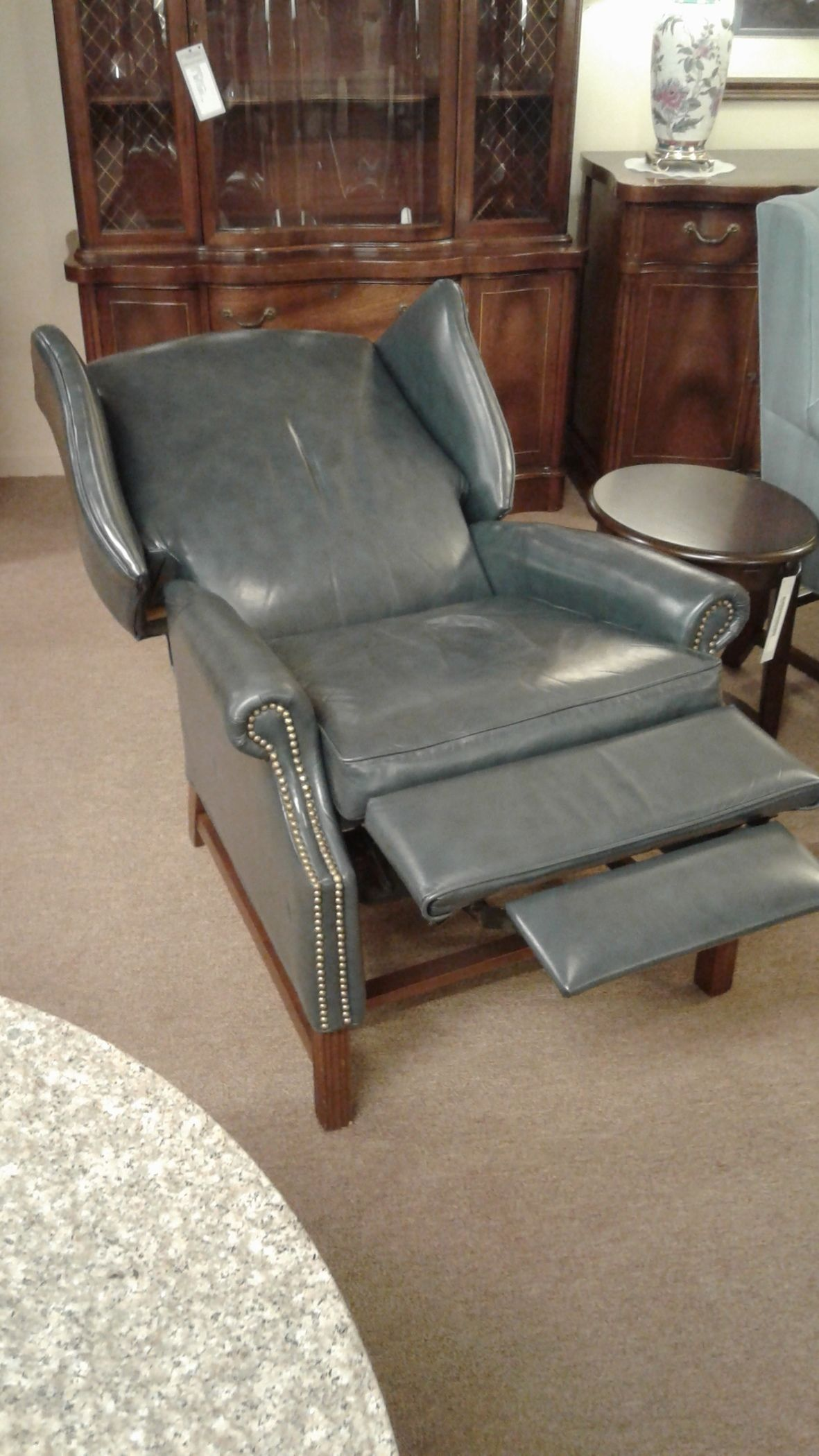 Leather Wingback Recliner Delmarva Furniture Consignment