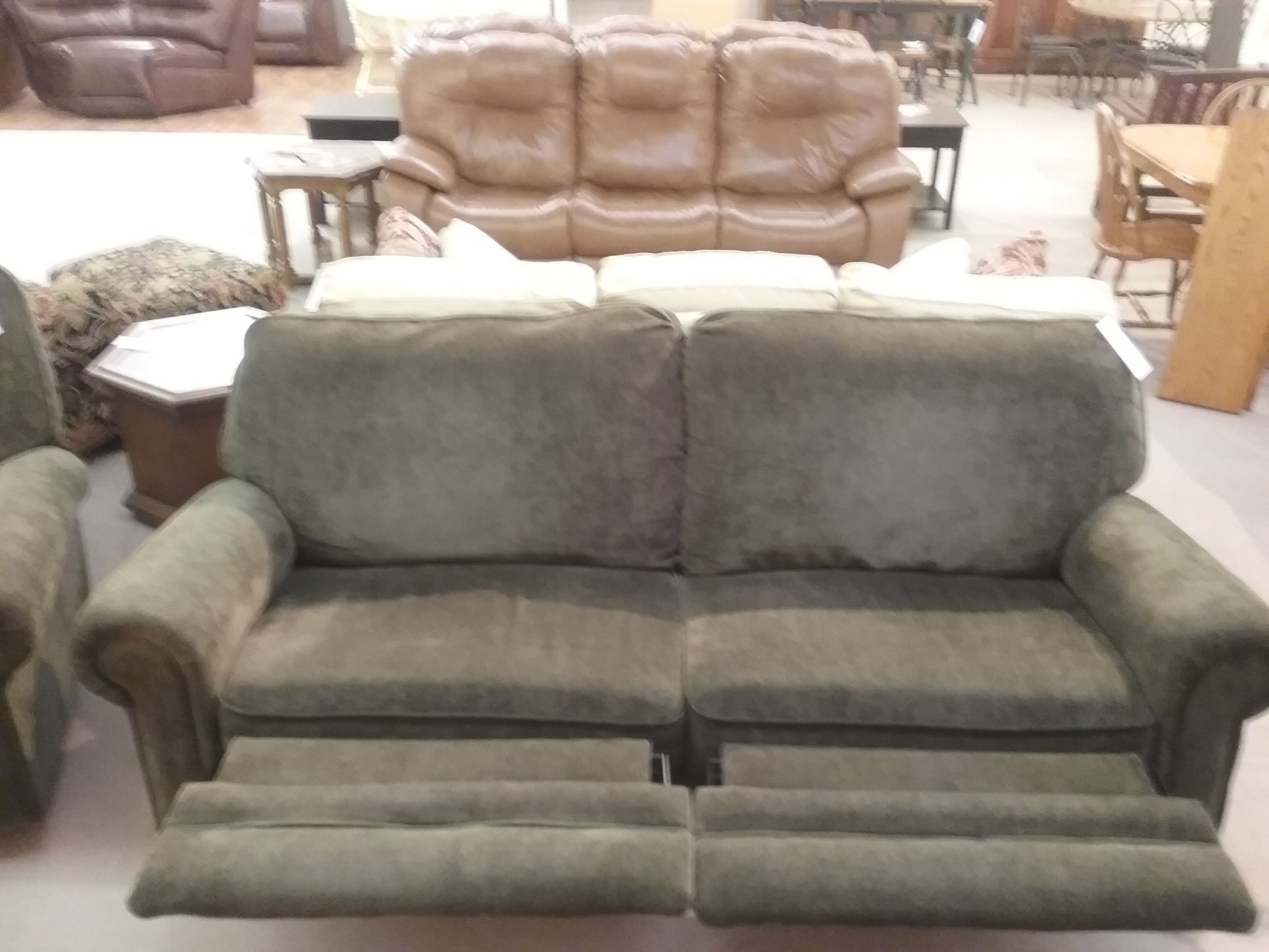 Green Berkline Reclining Sofa Delmarva Furniture Consignment