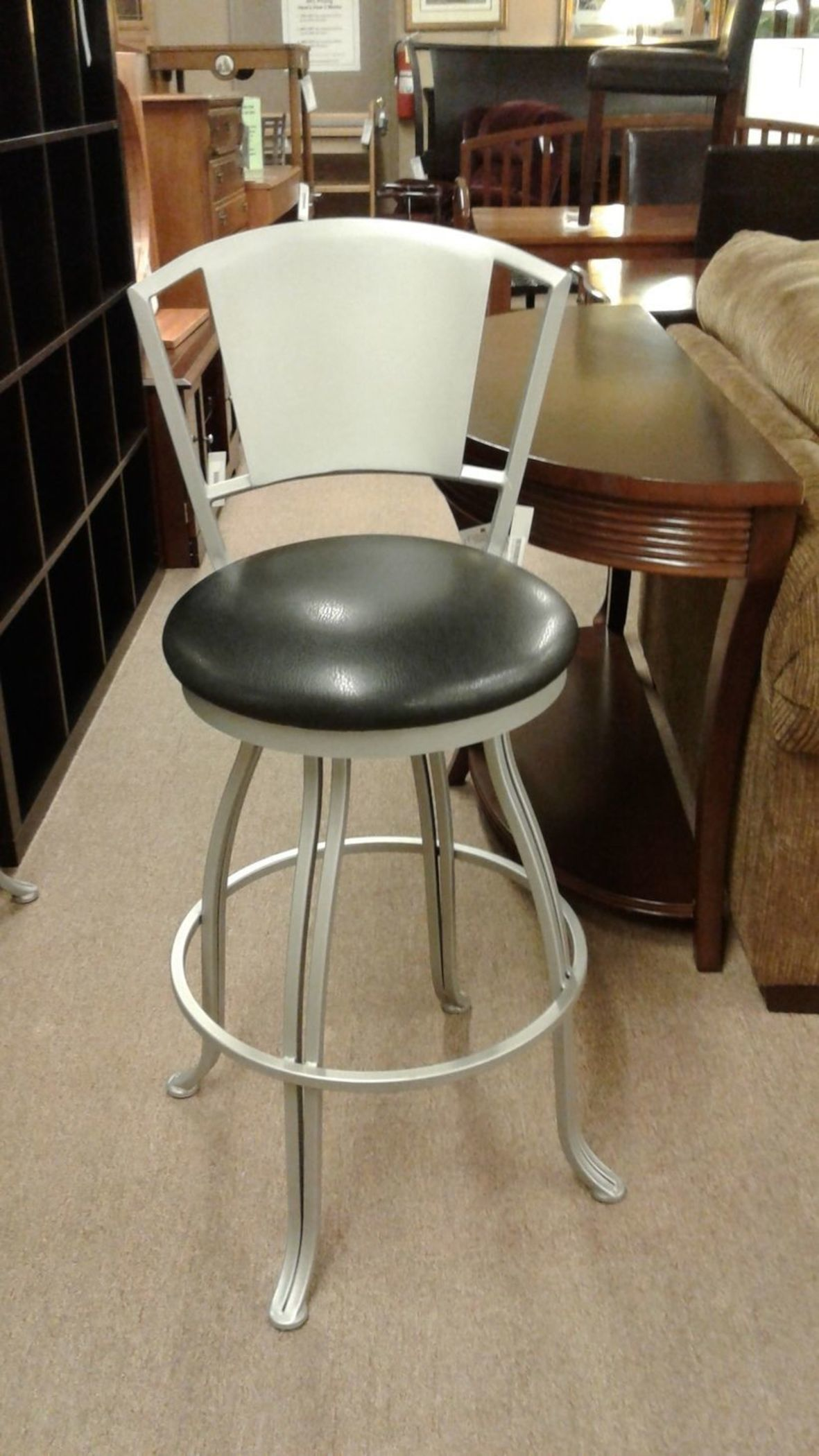 Brushed Silver Counter Stool Delmarva Furniture Consignment