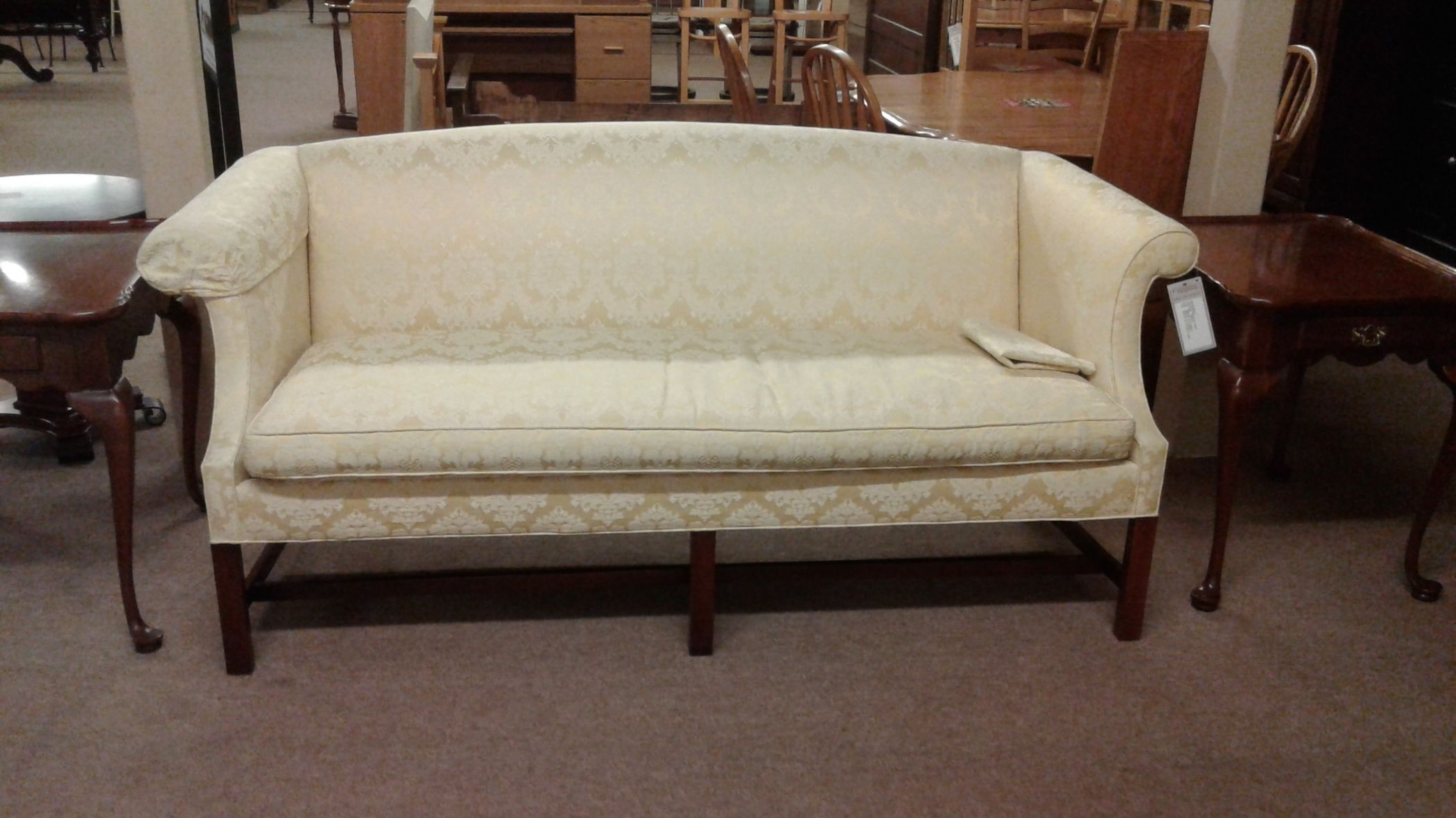 Astonishing Yellow Chippendale Sofa Delmarva Furniture Consignment Machost Co Dining Chair Design Ideas Machostcouk