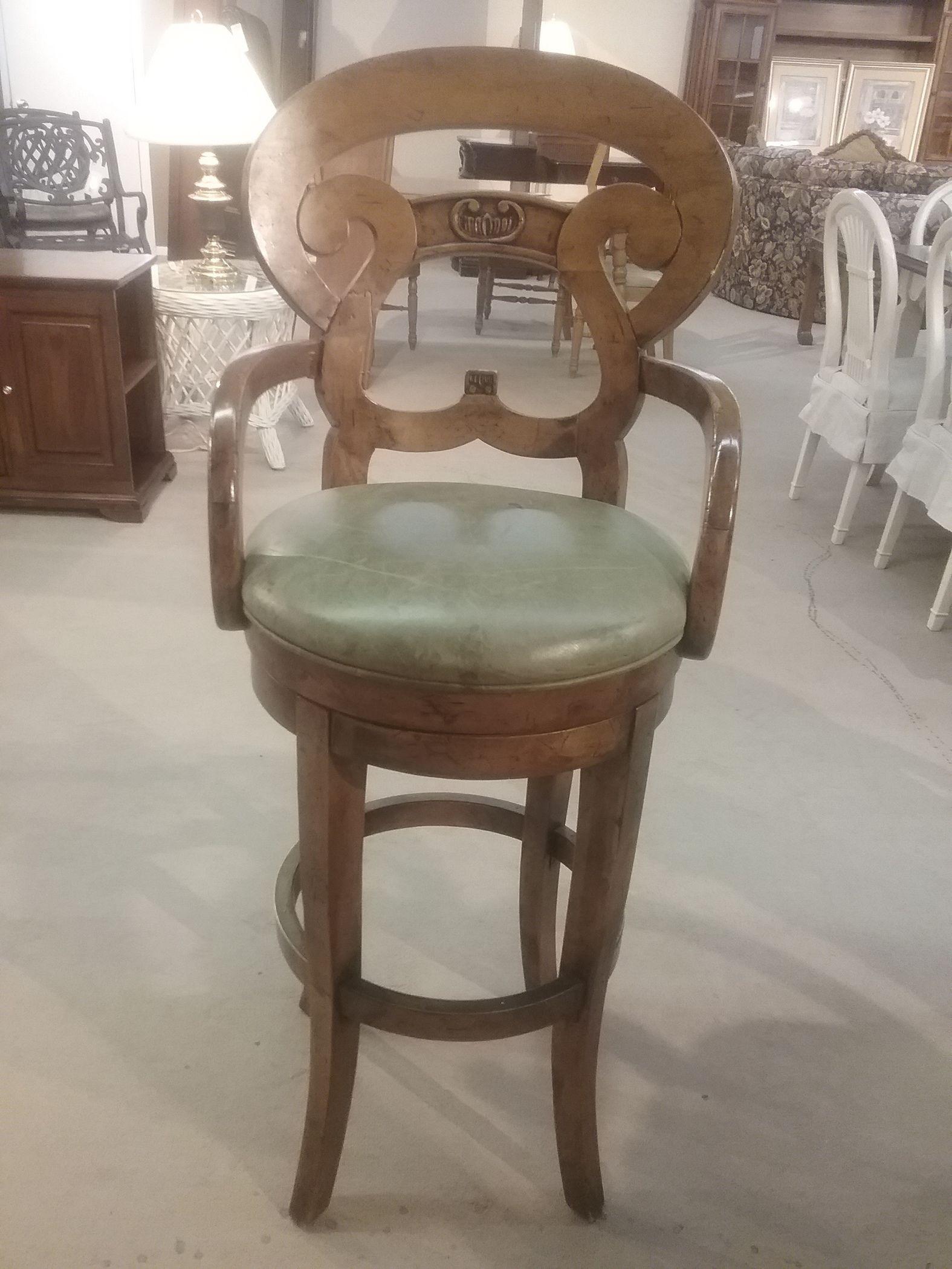 4 Olive Seat Bar Stools Delmarva Furniture Consignment
