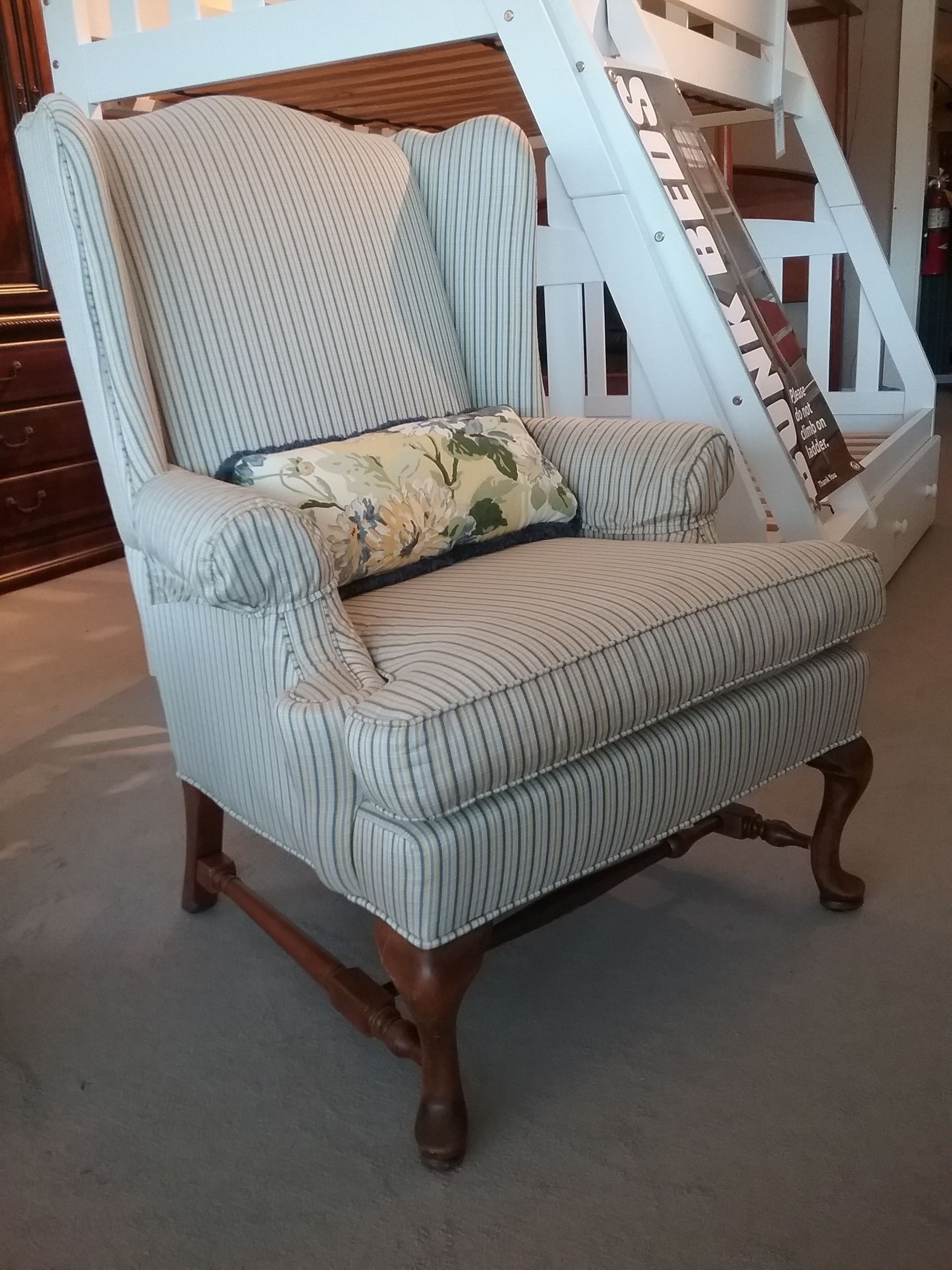 Ethan Allen Wingback Chair Delmarva Furniture Consignment