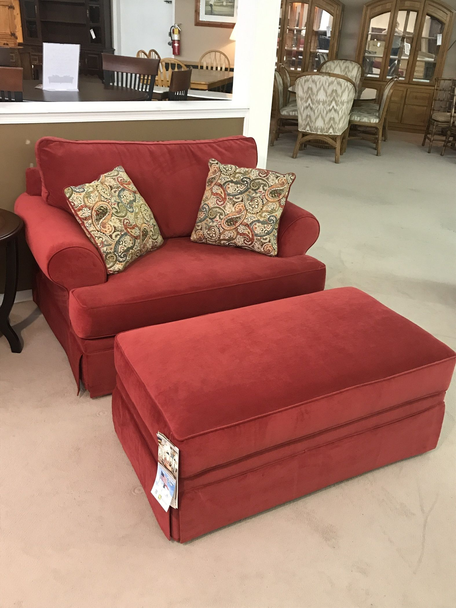 Klaussner Oversized Chair W Ottoman Delmarva Furniture