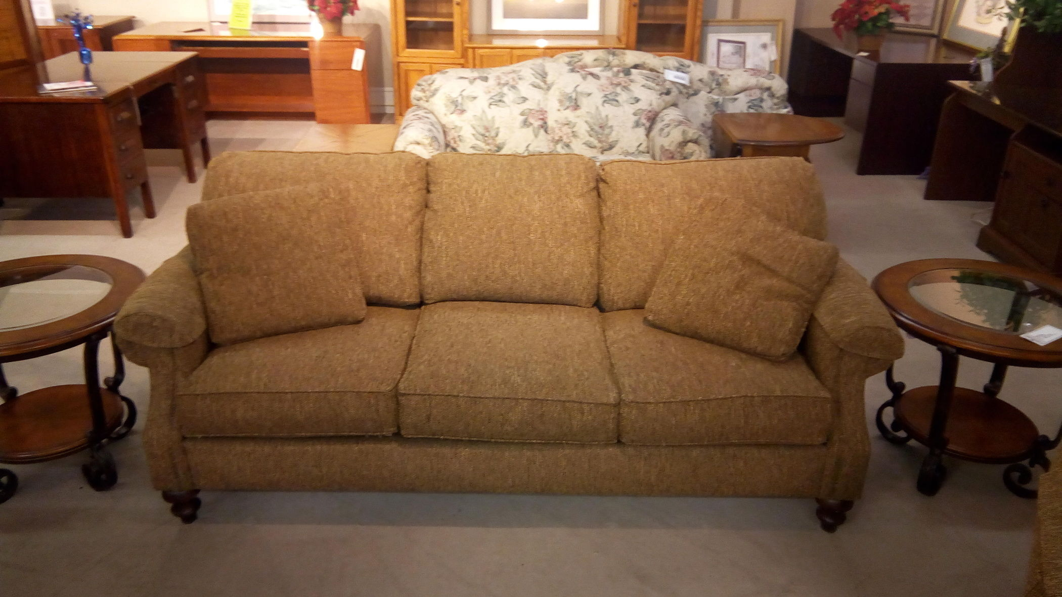 Clayton Marcus Chenille Sofa Delmarva Furniture Consignment