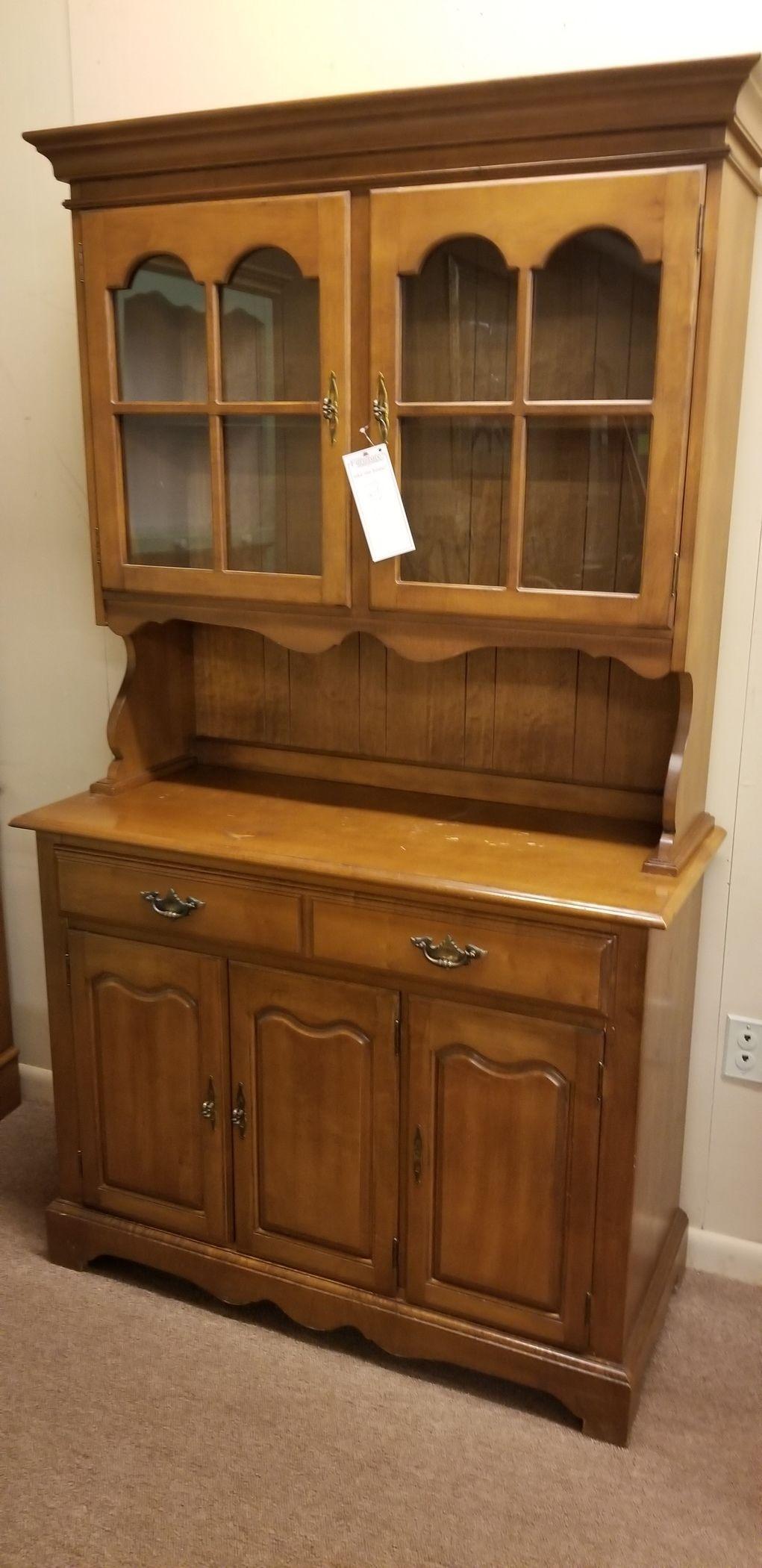 Antique China Hutch >> COCHRANE OAK CHINA HUTCH | Delmarva Furniture Consignment
