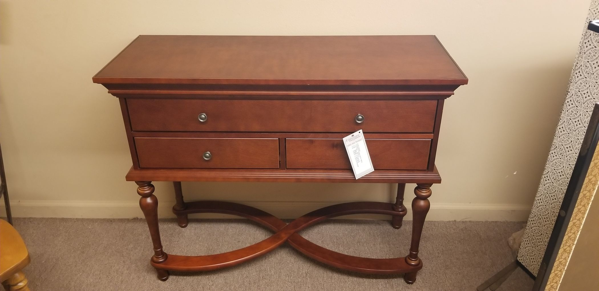 Marvelous 3 Drawer Cherry Sofa Table Delmarva Furniture Consignment Bralicious Painted Fabric Chair Ideas Braliciousco
