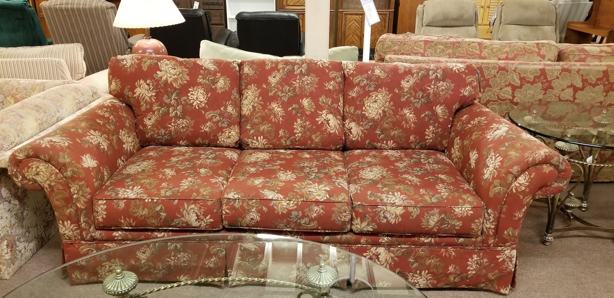Awesome Red Broyhill Sofa Delmarva Furniture Consignment Dailytribune Chair Design For Home Dailytribuneorg