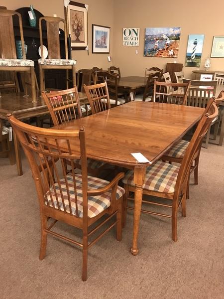 Small Image 49875 CHERRY DINING SET W HUTCH 15357342061392761296514254340706