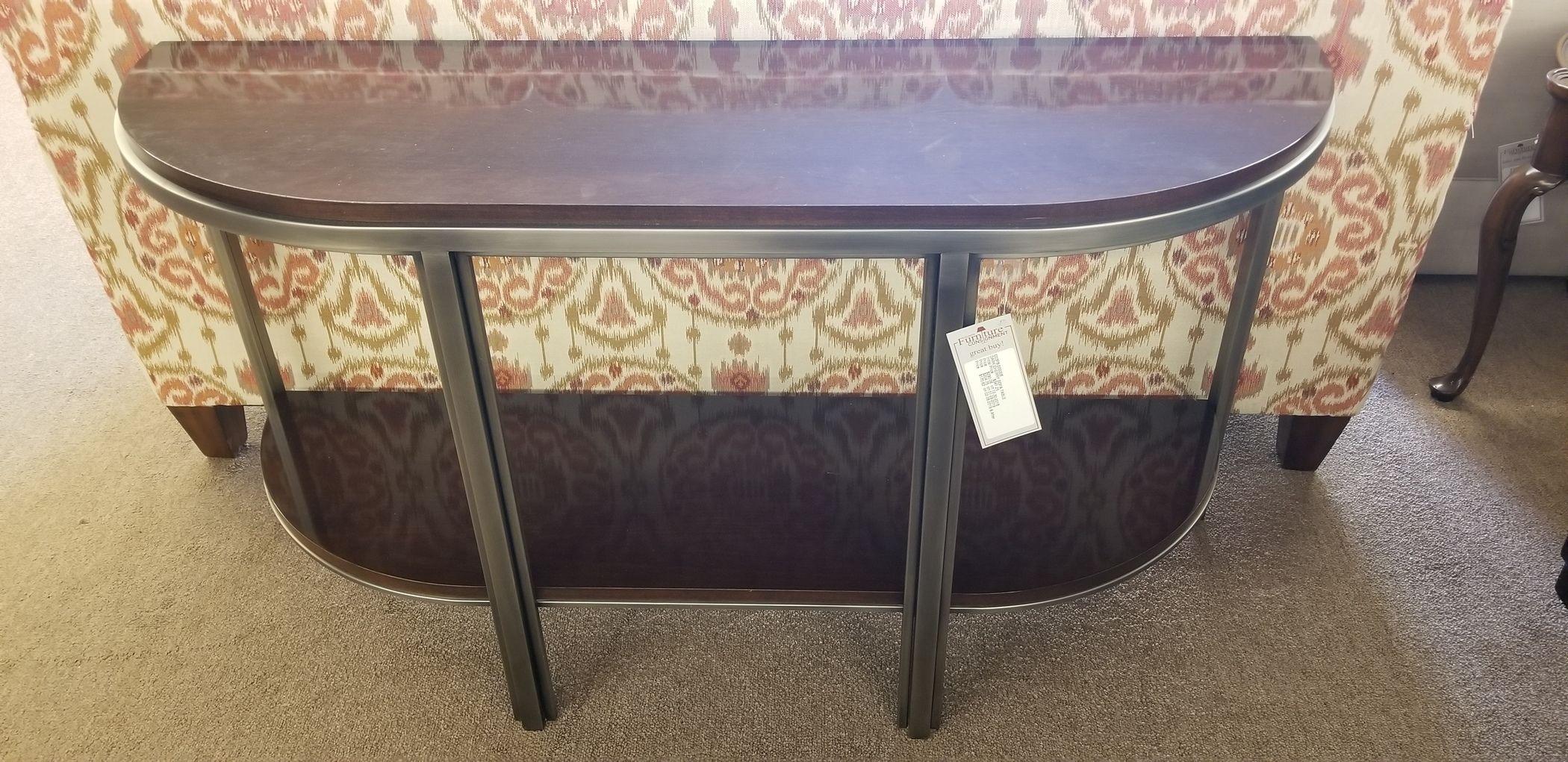 DARK CHERRY SOFA TABLE | Delmarva Furniture Consignment