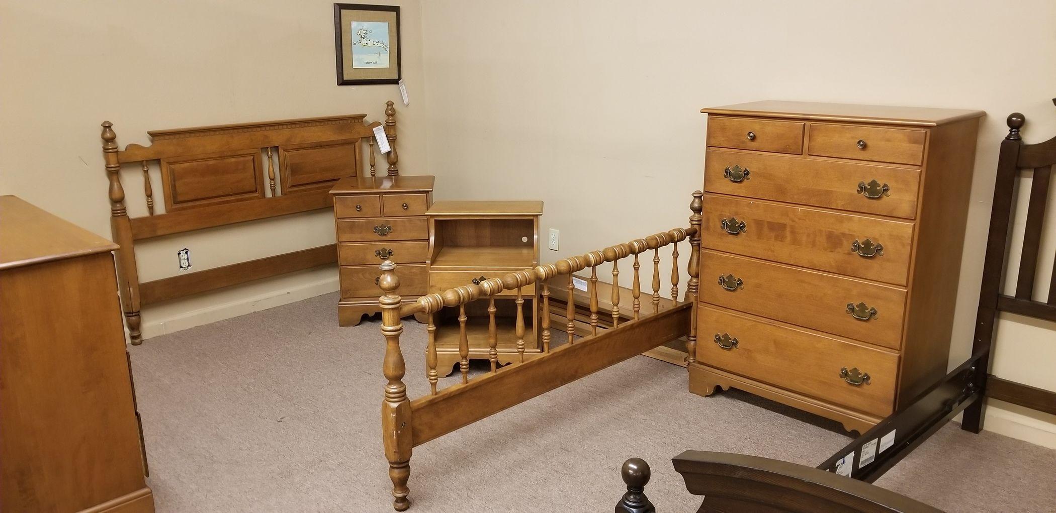 Ethan Allen Queen Bedroom Set Delmarva Furniture Consignment