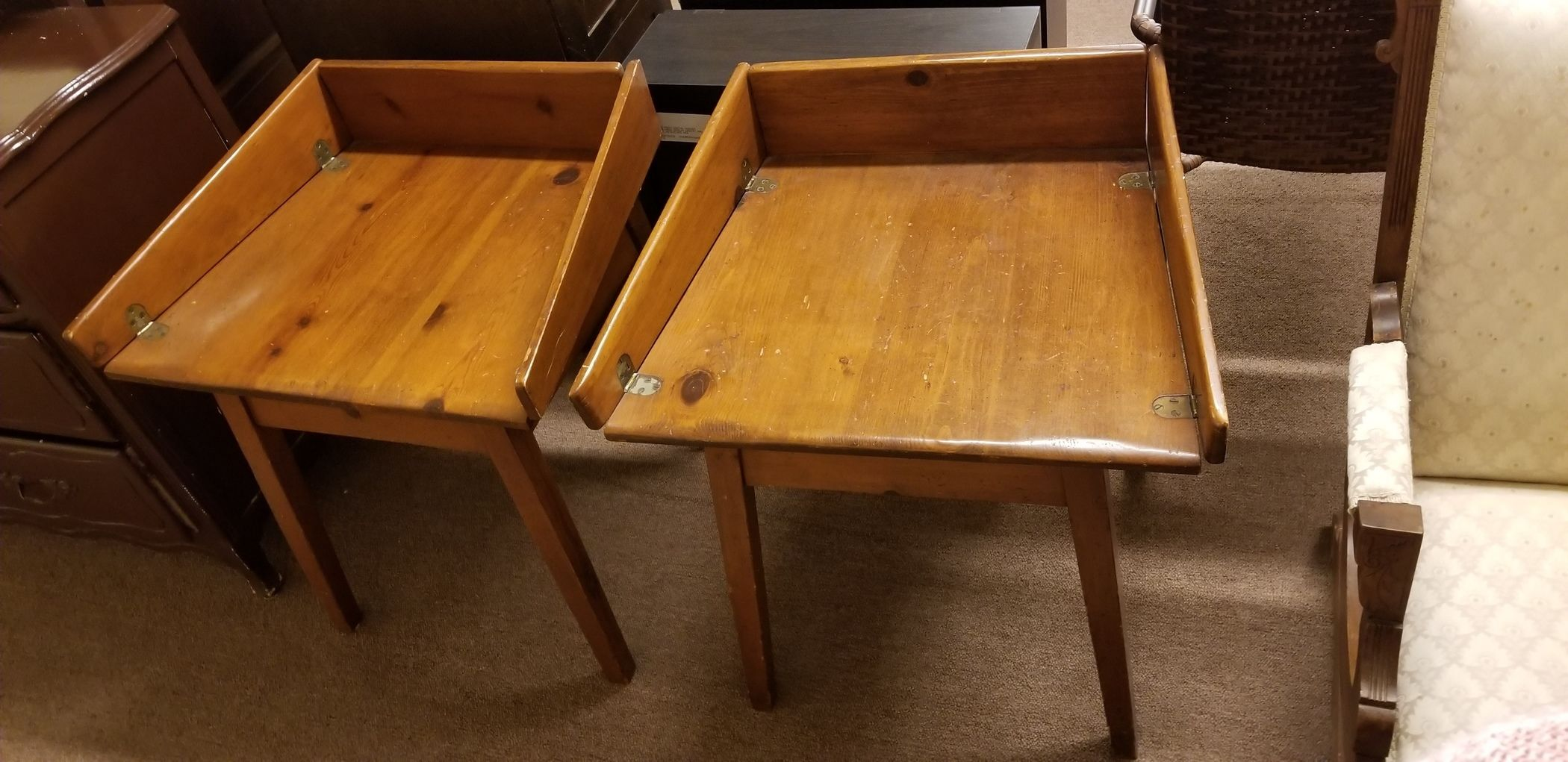 2 Pine Nightstands End Tables Delmarva Furniture Consignment
