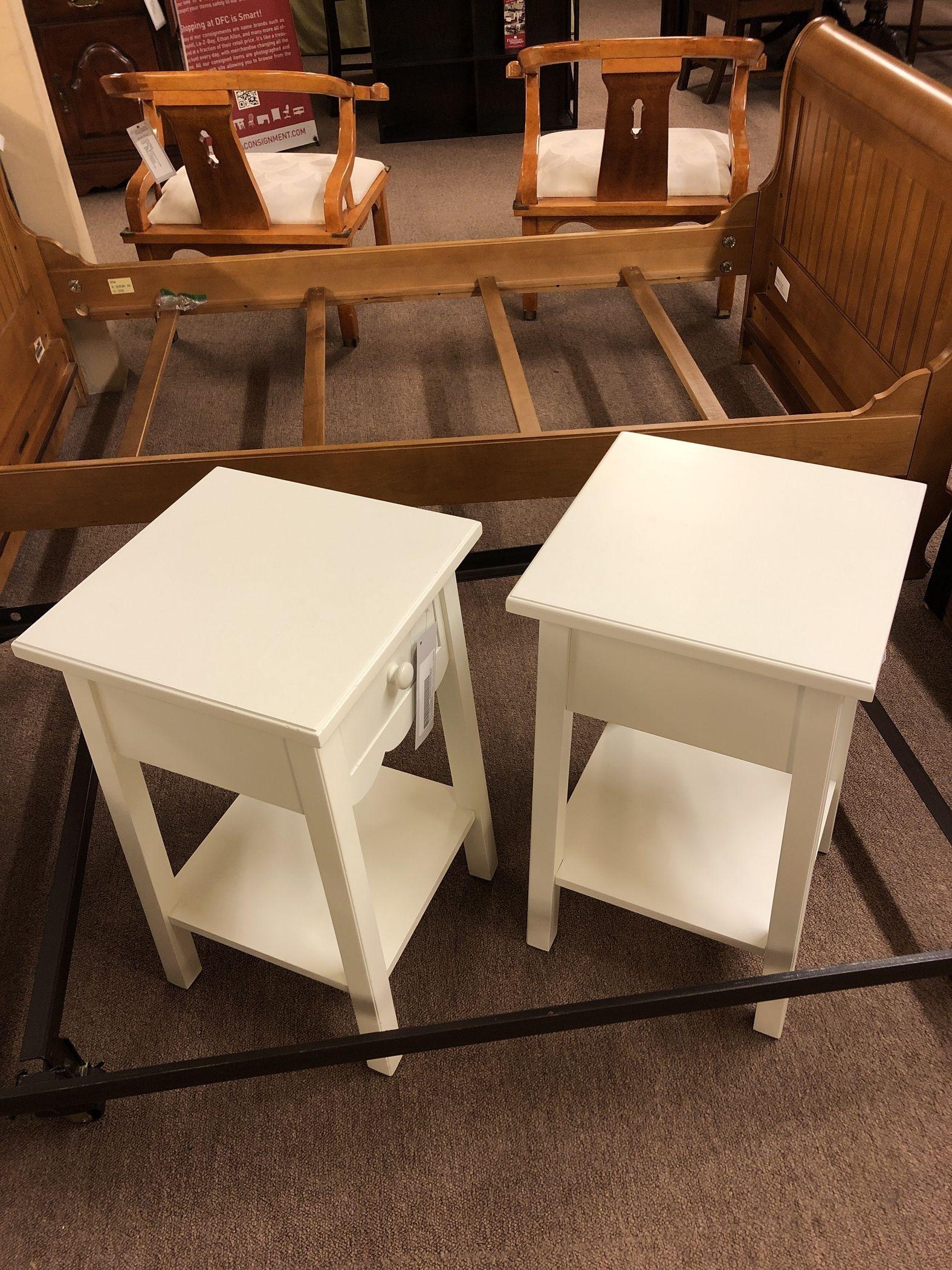WHITE POTTERY BARN NIGHTSTAND | Delmarva Furniture Consignment