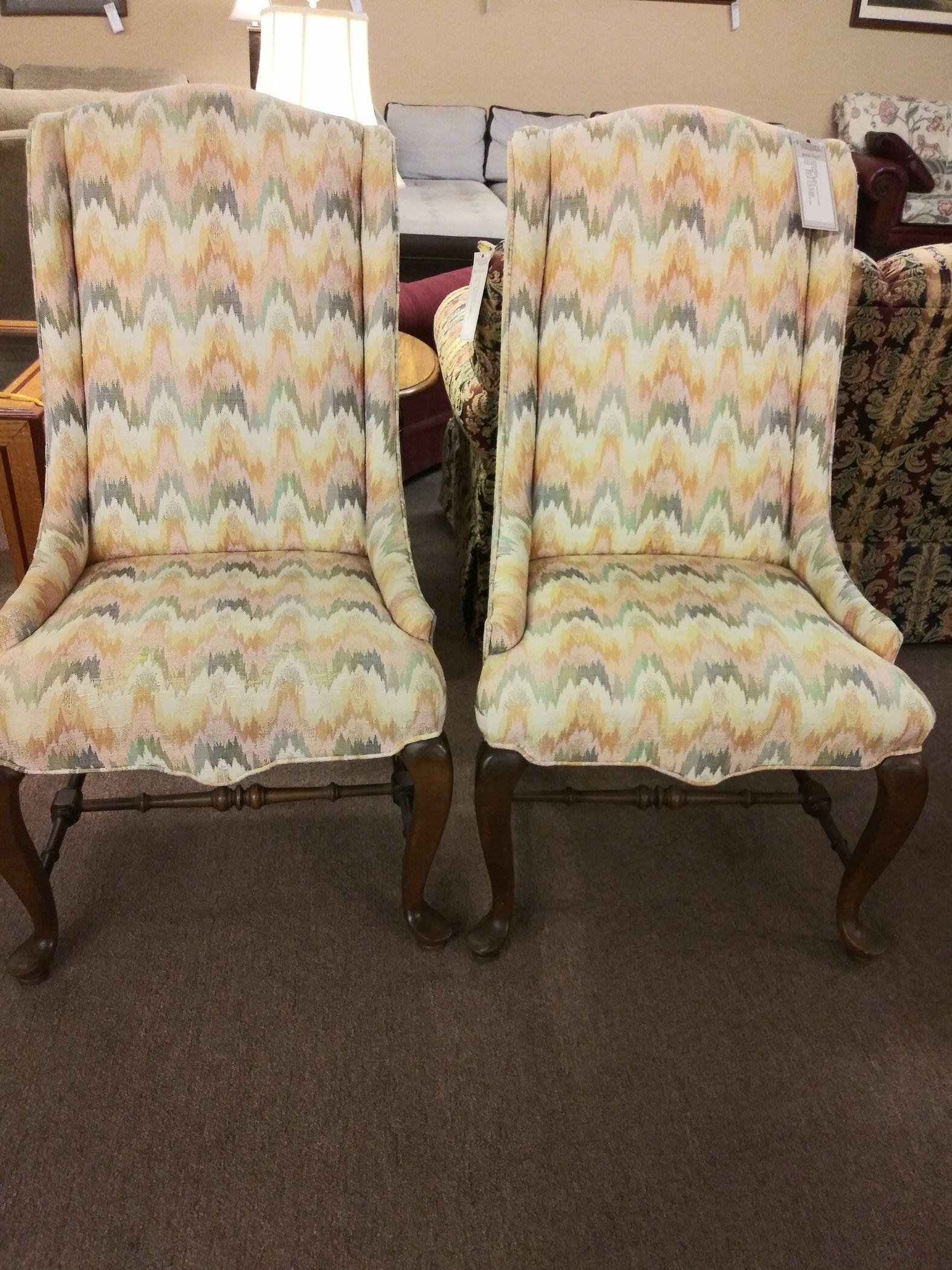 Pair Ethan Allen Parlor Chairs Delmarva Furniture