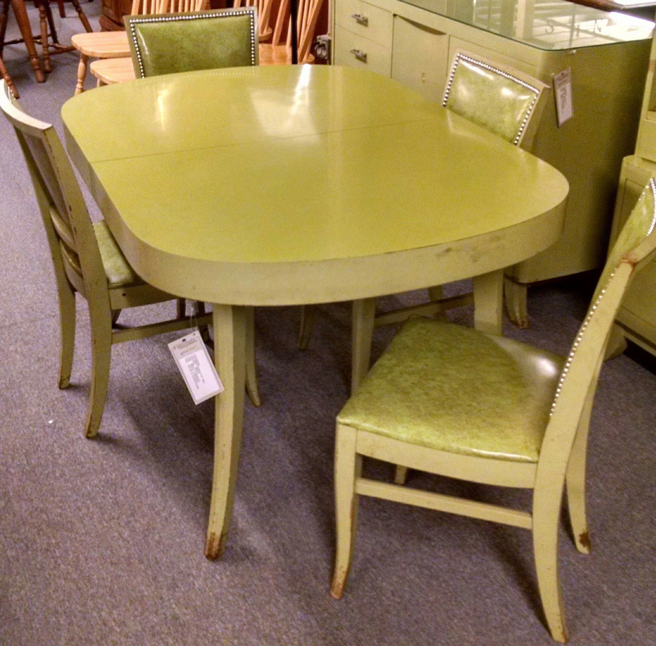 Lime Green Formica Top Table Delmarva Furniture Consignment