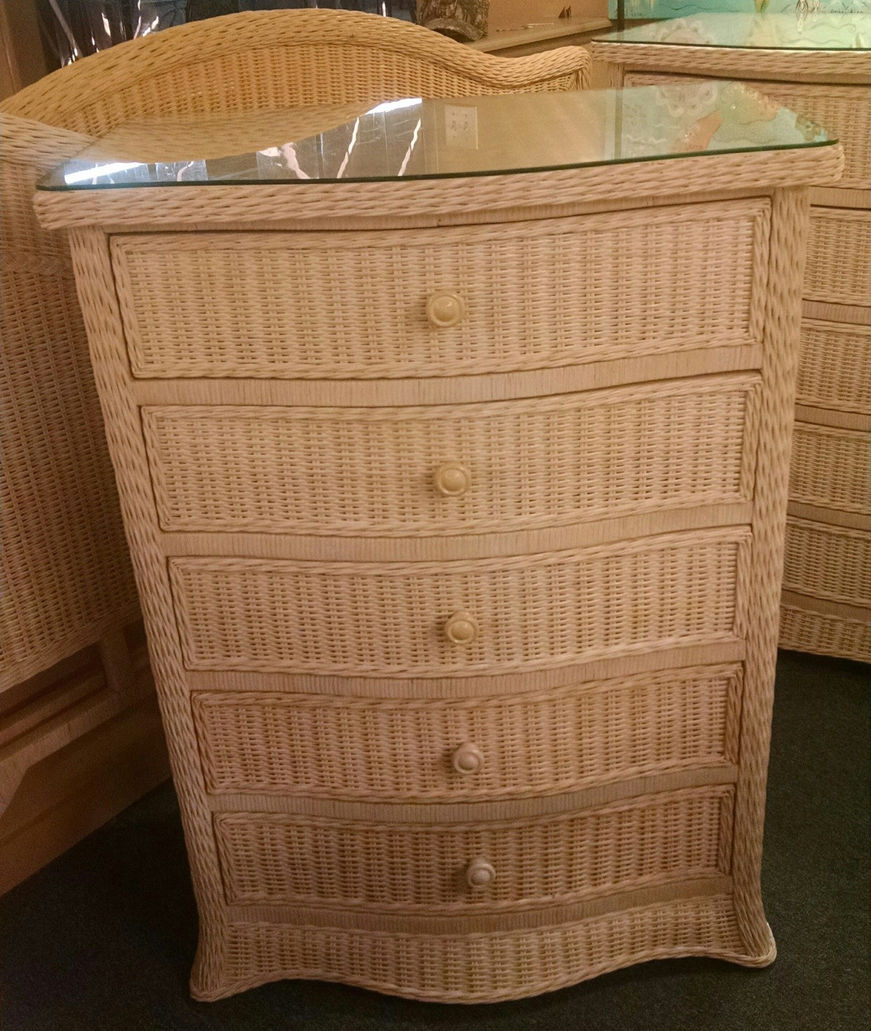 Wicker chest of drawers delmarva furniture consignment