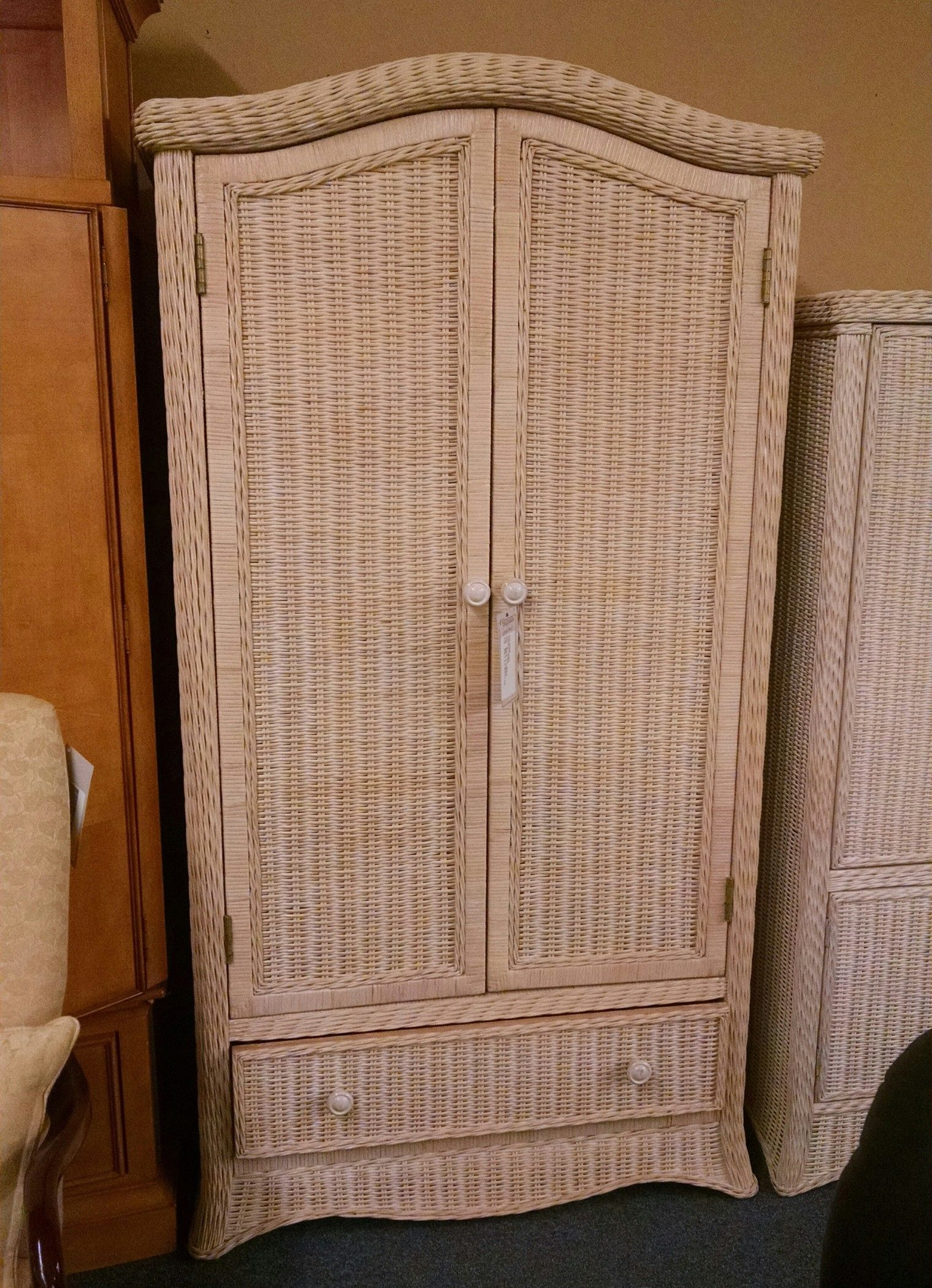 Wicker Wardrobe Delmarva Furniture Consignment