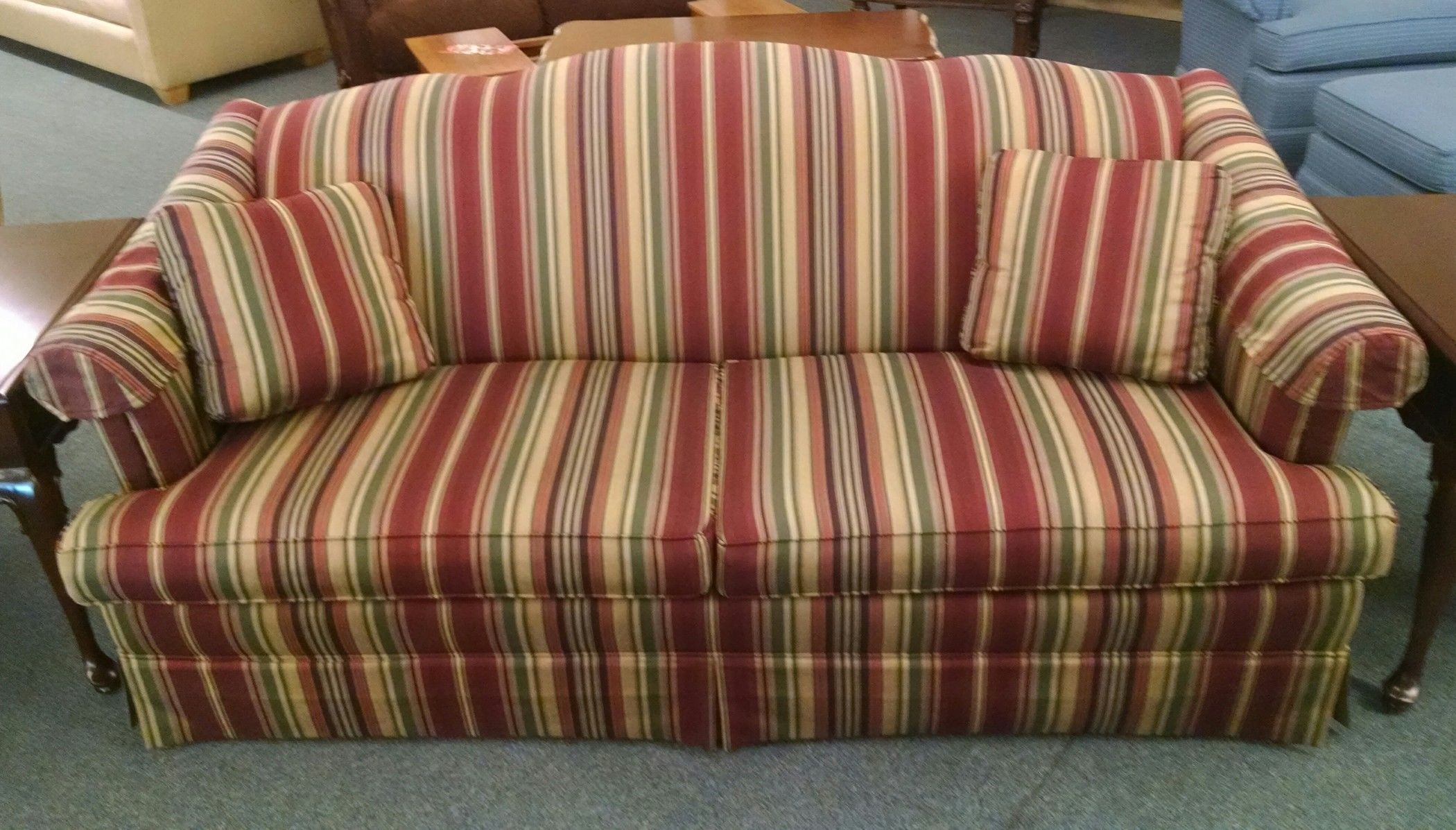 Thomasville Striped Sofa Delmarva Furniture Consignment