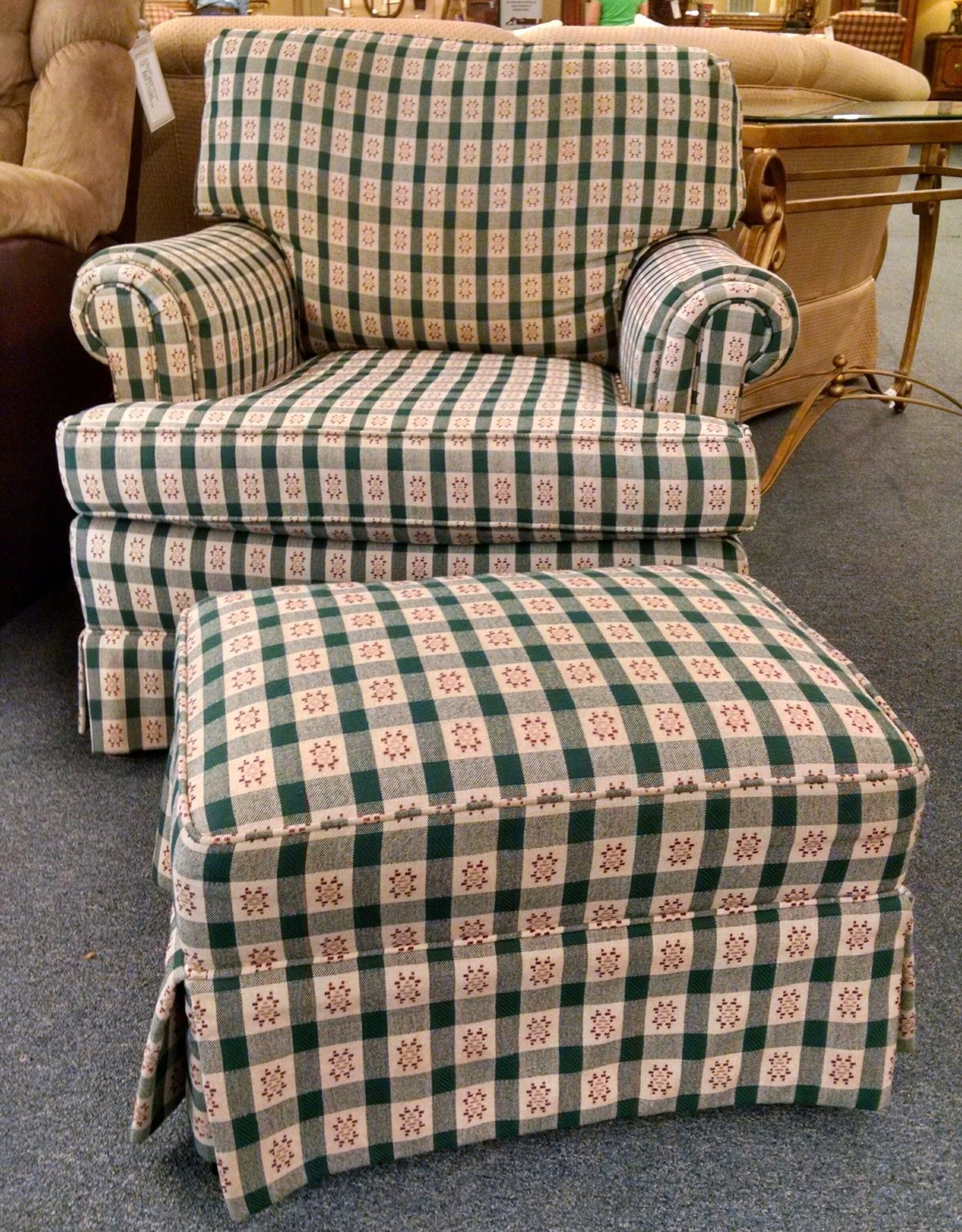 Masterfield Chair Ottoman Delmarva Furniture Consignment