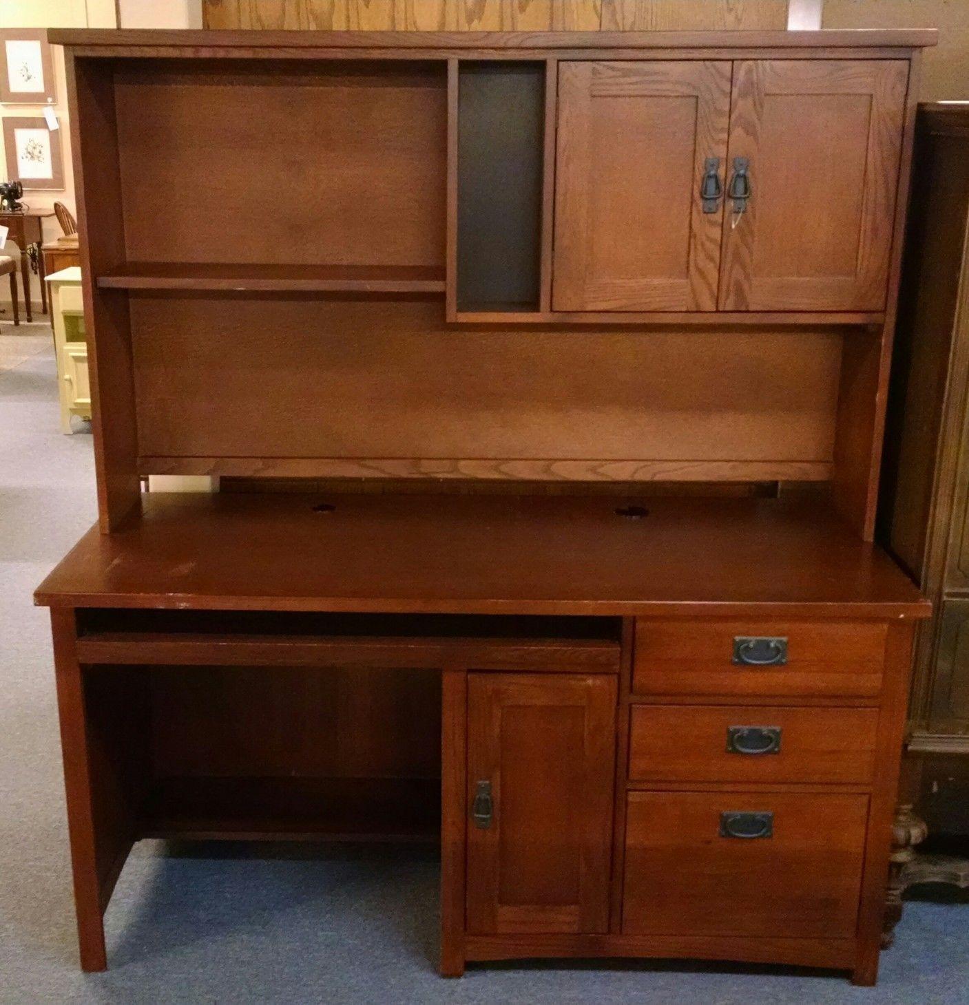 Mission Style Desk And Hutch Delmarva Furniture Consignment