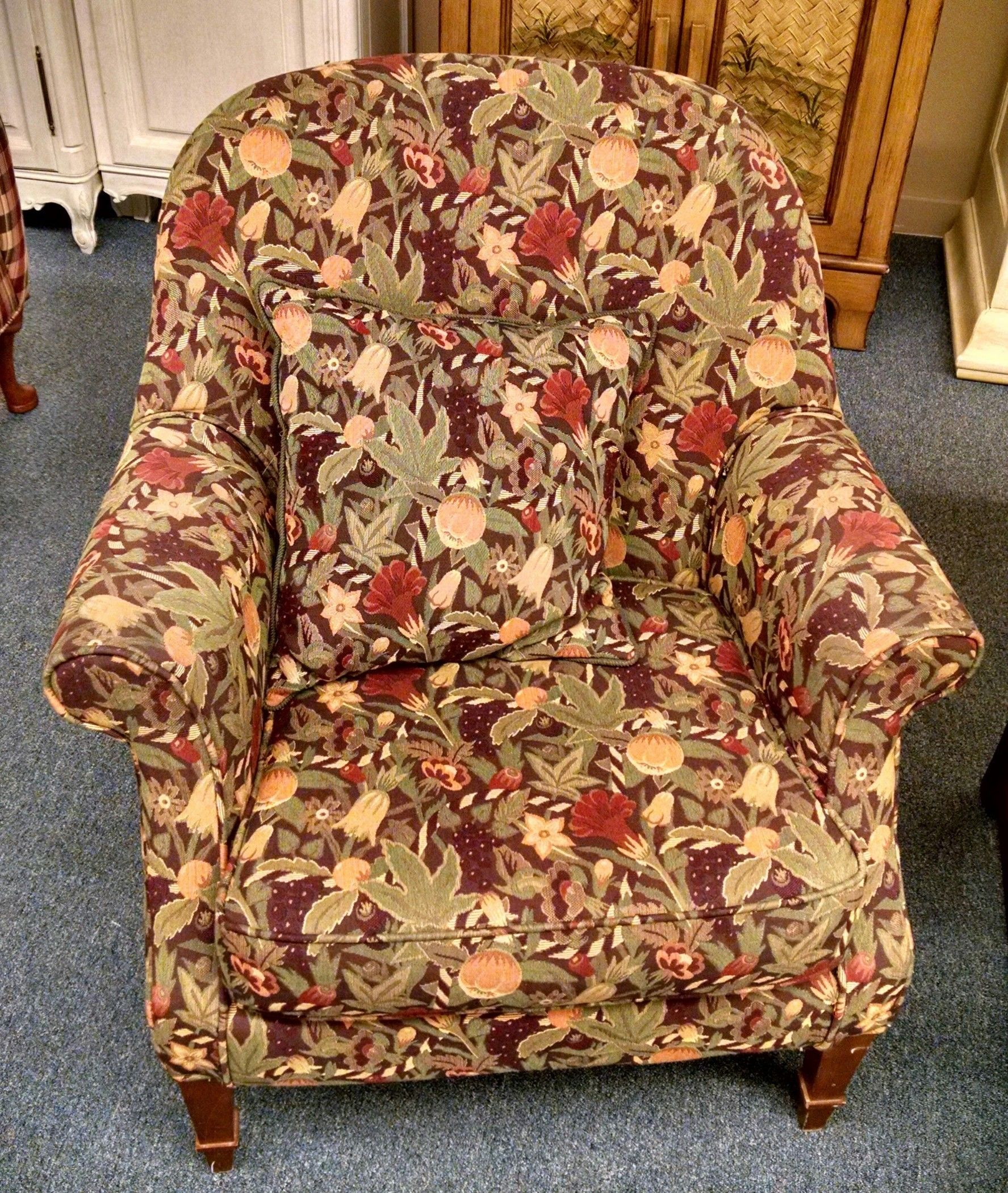 Floral Barrel Back Chair Delmarva Furniture Consignment