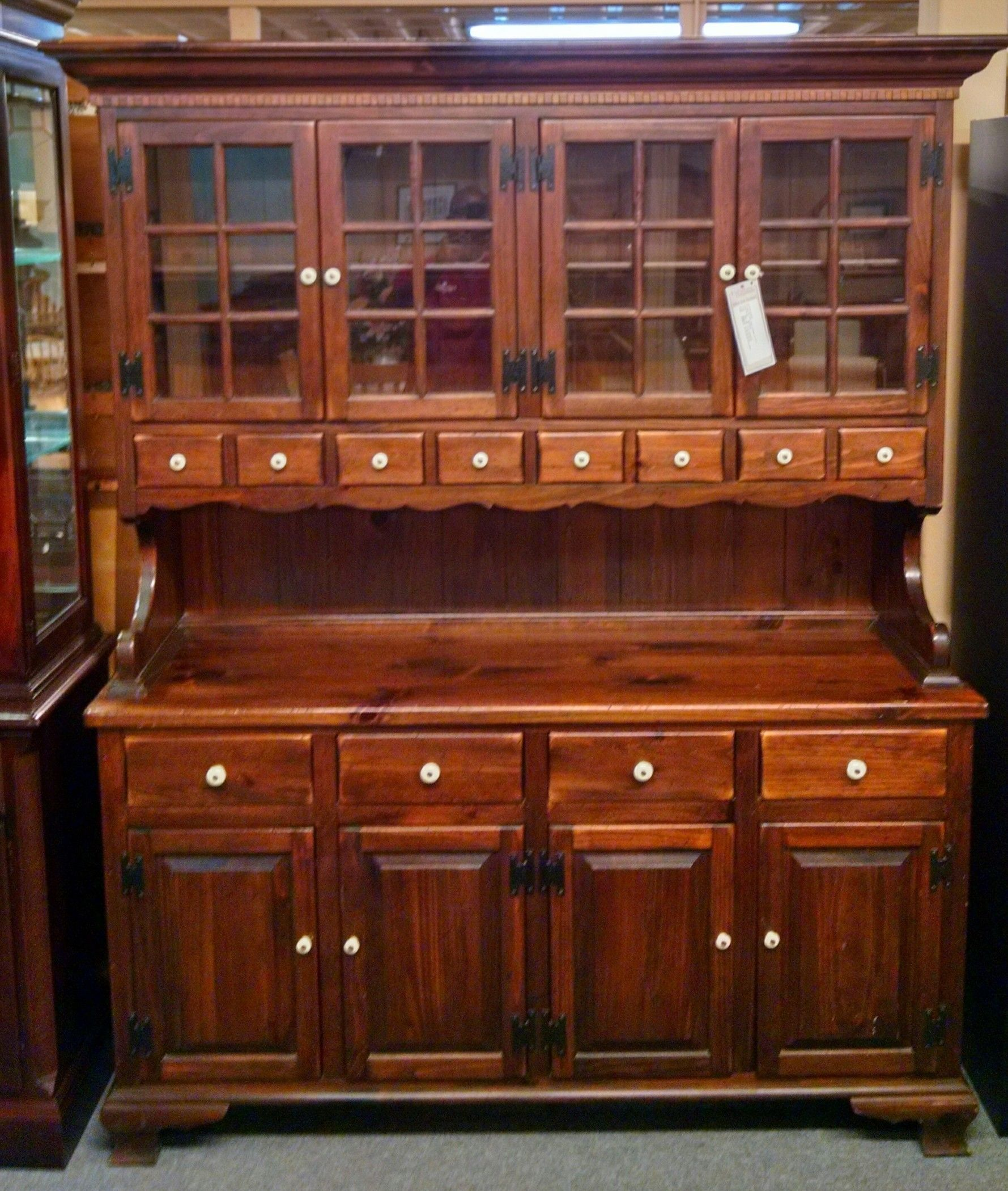 ETHAN ALLEN PINE CHINA HUTCH