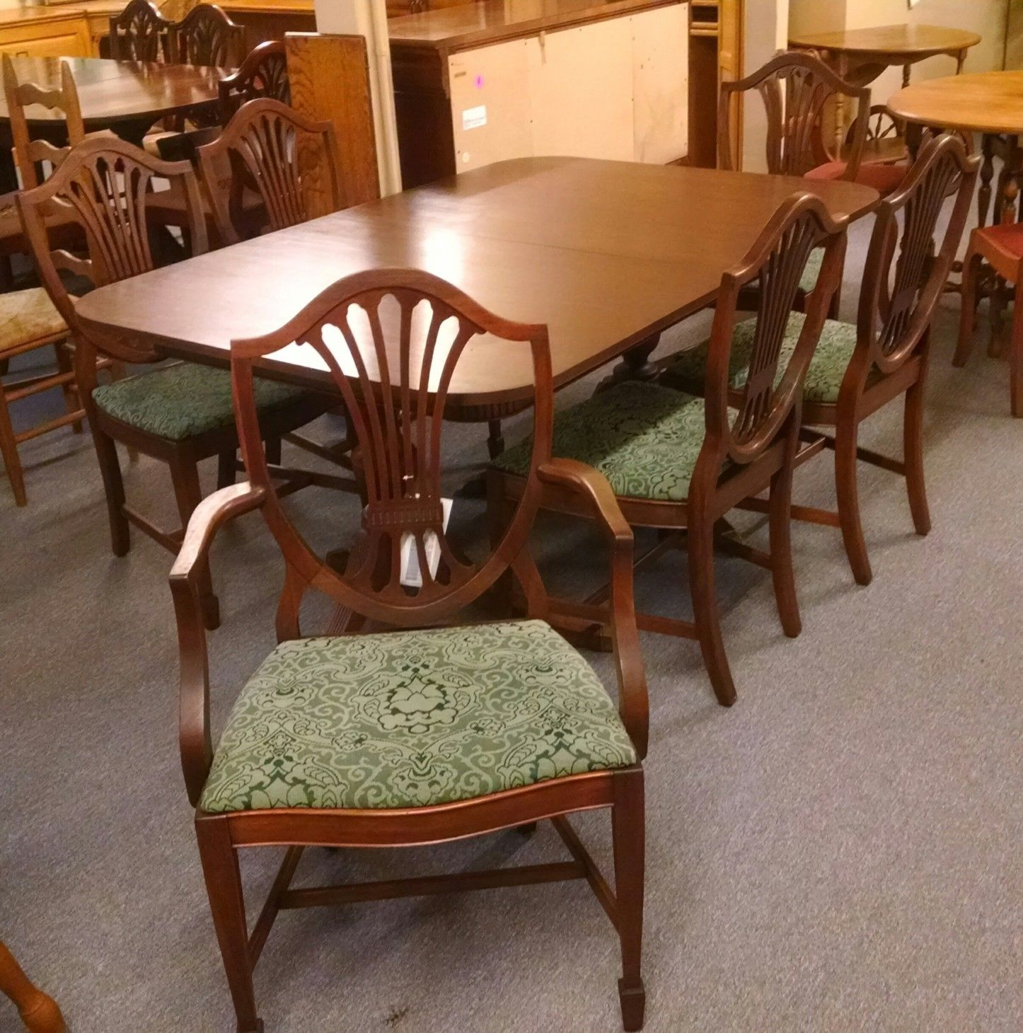 duncan phyfe table w 6 chairs delmarva furniture consignment