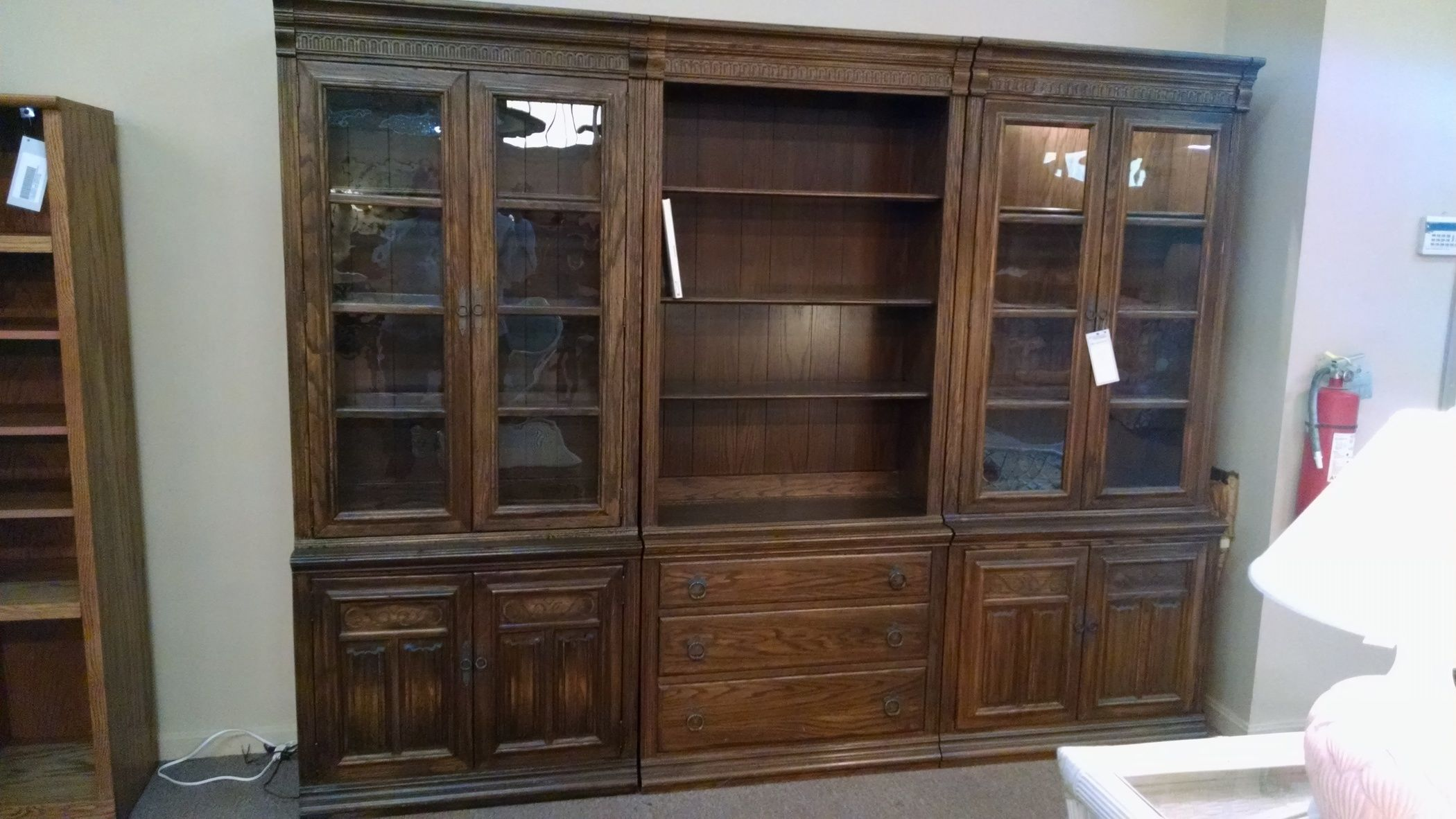 Ethan Allen Library Wall Unit Delmarva Furniture Consignment
