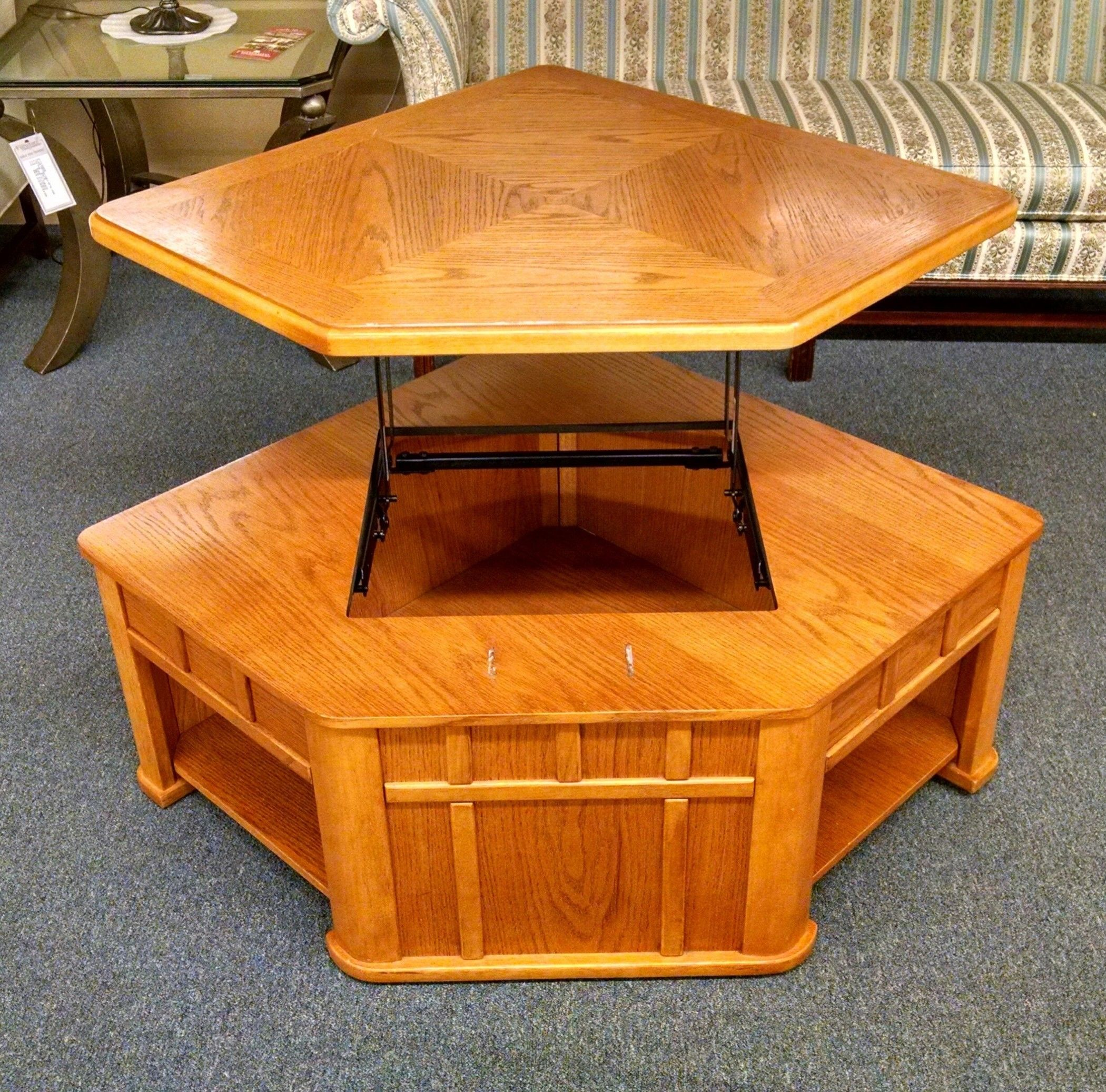 Oak Lift Top Coffee Table Delmarva Furniture Consignment