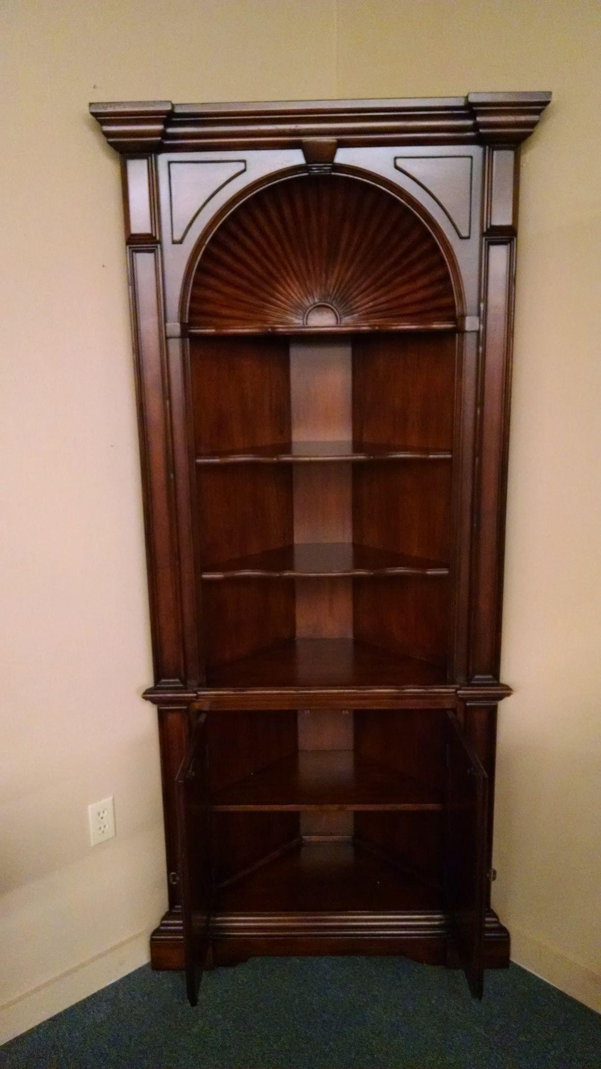 Hooker Corner Cabinet Delmarva Furniture Consignment