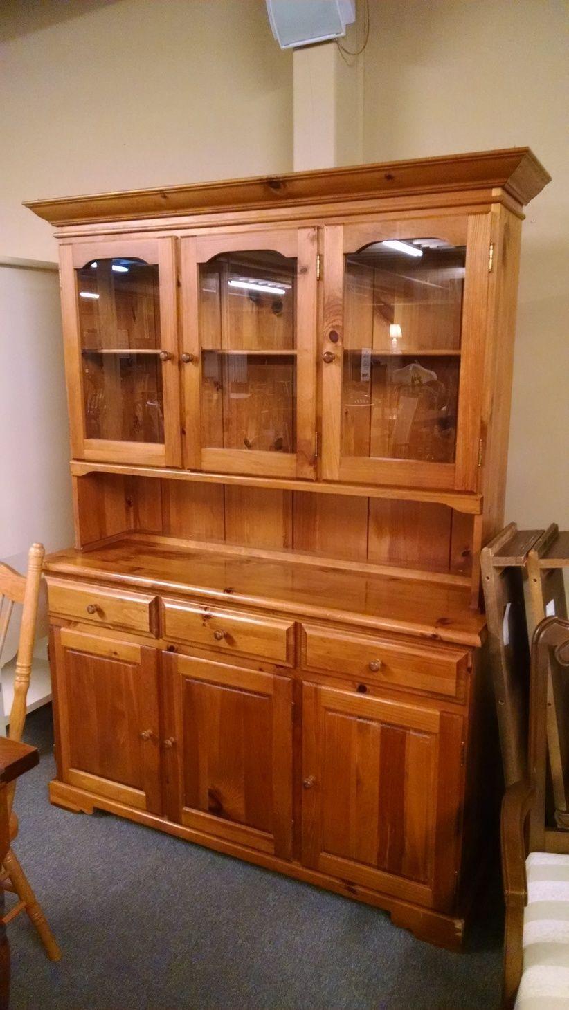 Pine China Hutch Delmarva Furniture Consignment