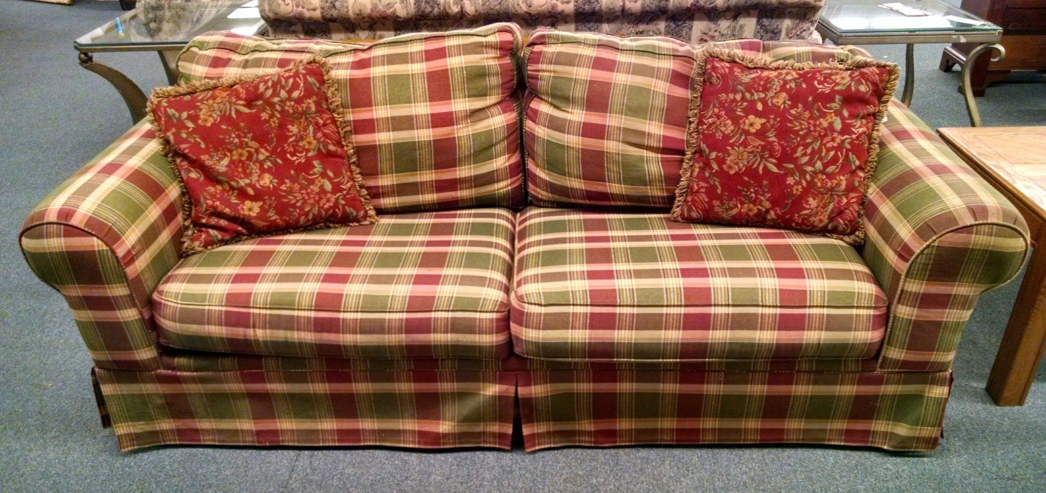Plaid Sleeper Sofa Delmarva Furniture Consignment