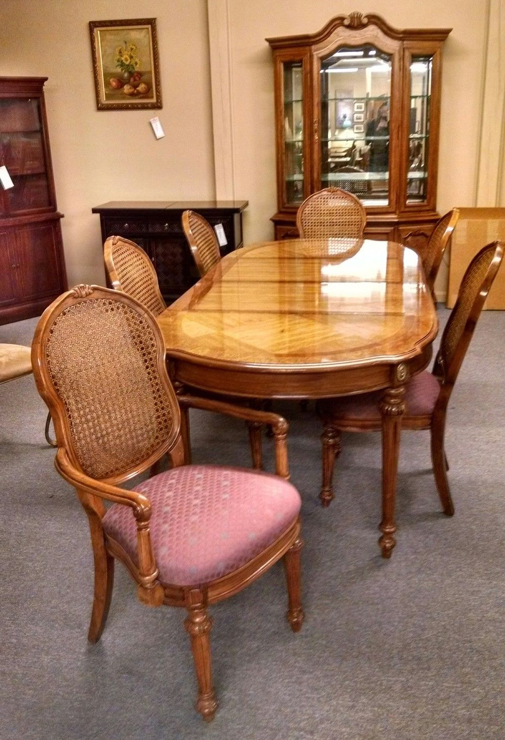 Thomasville dining room set delmarva furniture consignment for Dining room tables thomasville