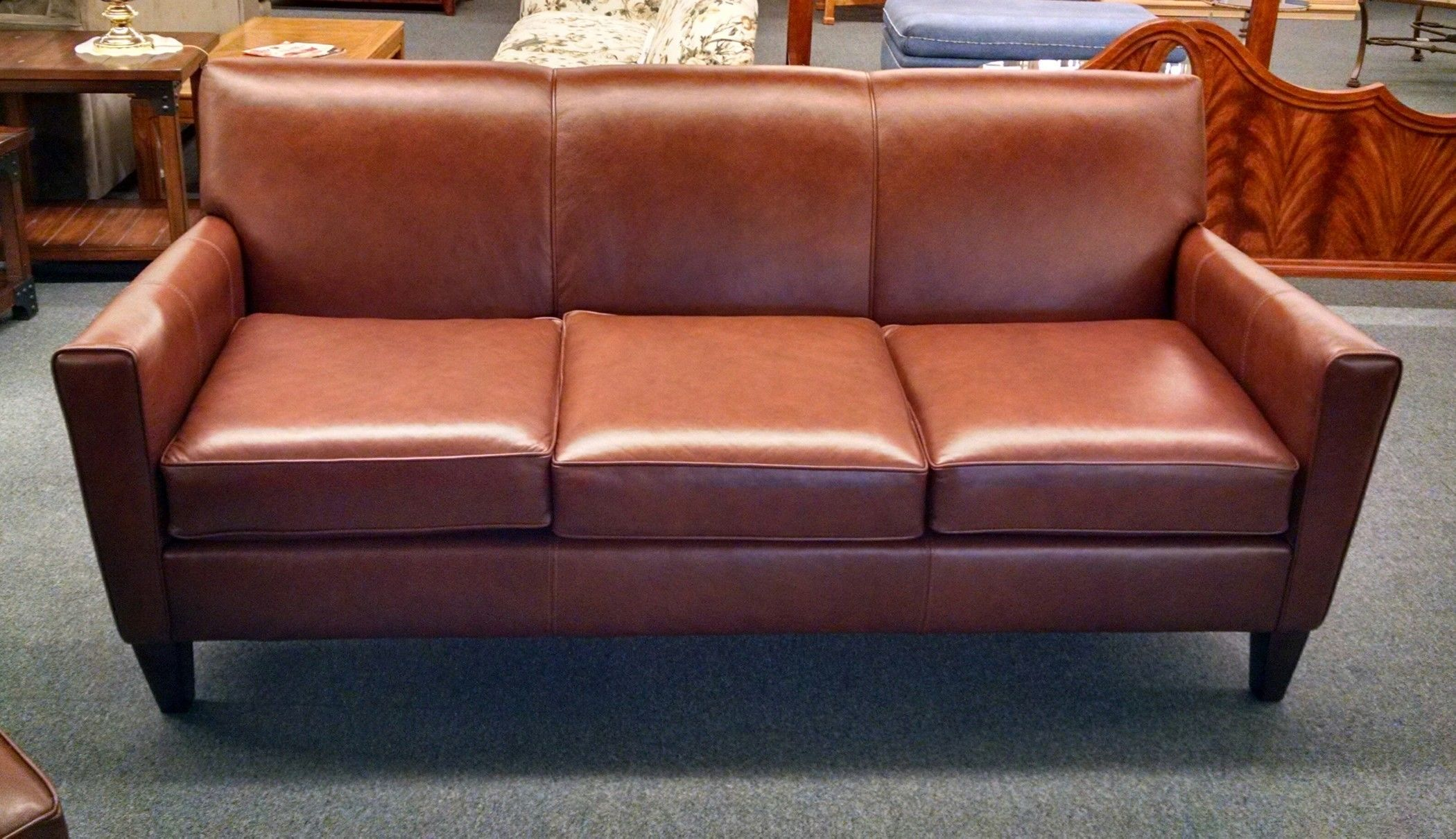 Leather Sofa By England Delmarva Furniture Consignment