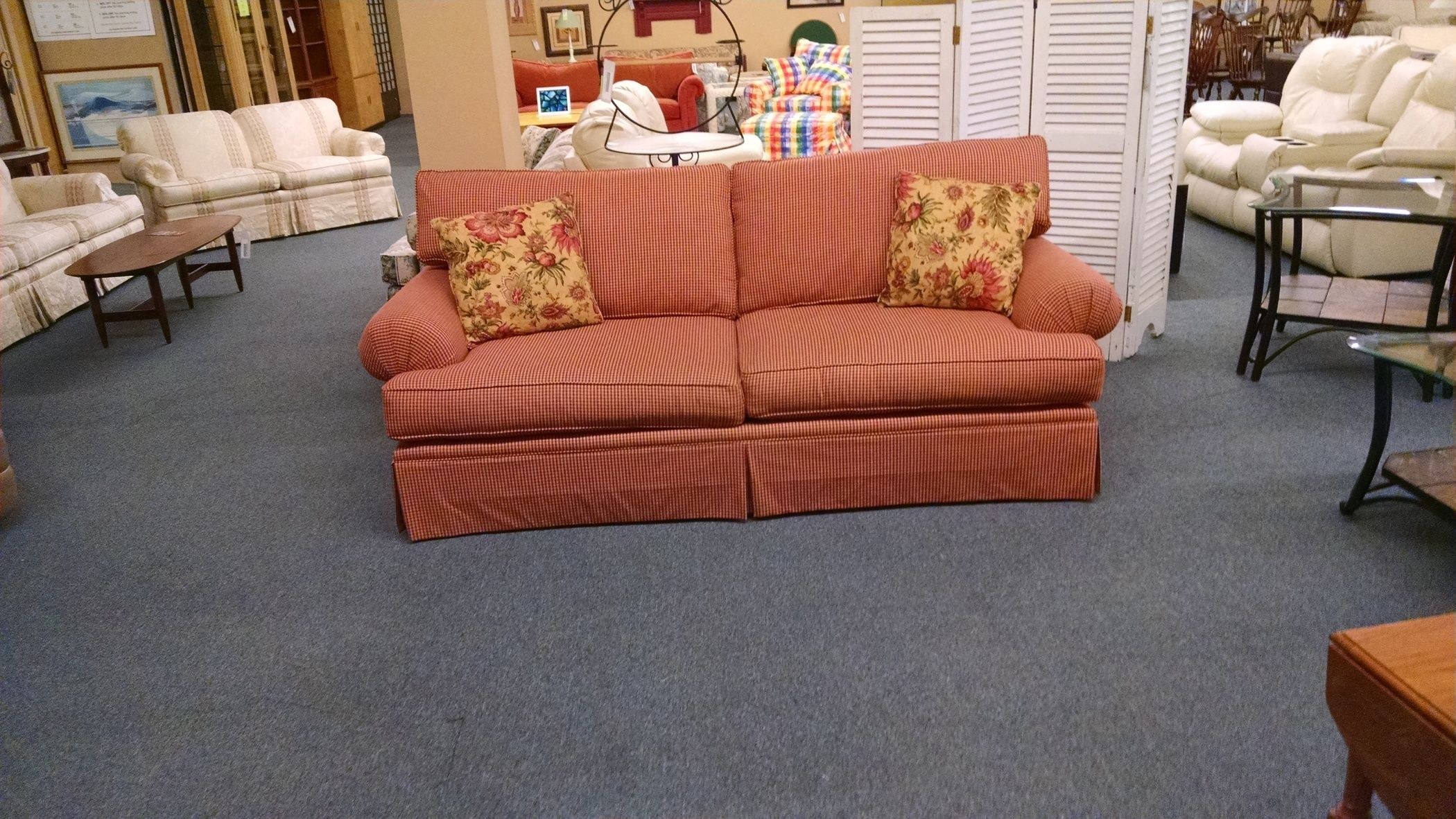 CRAFTMASTER CHECKERED SOFA | Delmarva Furniture Consignment